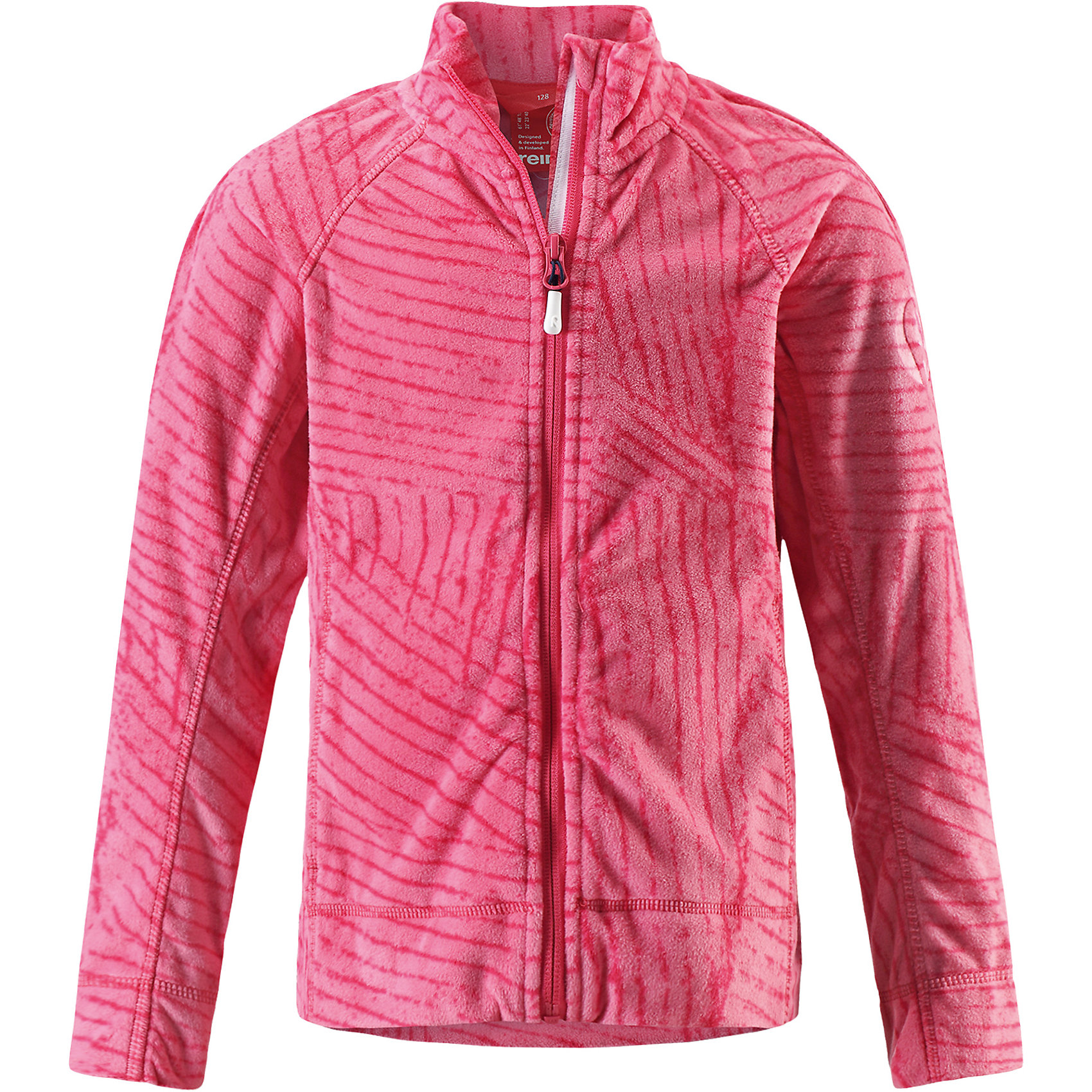 Куртка Piiru флисовая для девочки ReimaОдежда<br>Характеристики товара:<br><br>• цвет: розовый<br>• состав: 100% полиэстер<br>• теплый, легкий и быстросохнущий микрофлис<br>• молния во всю длину со вставкой для защиты подбородка<br>• приятная на ощупь ткань<br>• два боковых кармана<br>• комфортная посадка<br>• с отделкой горячим тиснением<br>• страна производства: Китай<br>• страна бренда: Финляндия<br>• коллекция: весна-лето 2017<br><br>Одежда для детей может быть модной и комфортной одновременно! Удобная курточка поможет обеспечить ребенку комфорт и тепло. Изделие сшито из микрофлиса - мягкого и теплого материала, приятного на ощупь. Модель стильно смотрится, отлично сочетается с различным низом. Стильный дизайн разрабатывался специально для детей.<br><br>Одежда и обувь от финского бренда Reima пользуется популярностью во многих странах. Эти изделия стильные, качественные и удобные. Для производства продукции используются только безопасные, проверенные материалы и фурнитура. Порадуйте ребенка модными и красивыми вещами от Reima! <br><br>Куртку флисовую для девочки от финского бренда Reima (Рейма) можно купить в нашем интернет-магазине.<br><br>Ширина мм: 356<br>Глубина мм: 10<br>Высота мм: 245<br>Вес г: 519<br>Цвет: розовый<br>Возраст от месяцев: 108<br>Возраст до месяцев: 120<br>Пол: Женский<br>Возраст: Детский<br>Размер: 140,104,116,146,152,158,110,122,128,134<br>SKU: 5267451