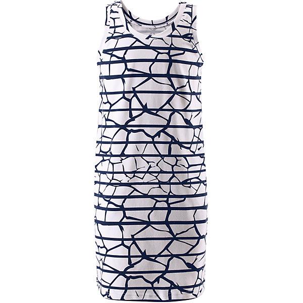 Платье Helle для девочки ReimaОдежда<br>Характеристики товара:<br><br>• цвет: белый<br>• состав: 65% хлопок, 30% полиэстер, 5% эластан<br>• фактор защиты от ультрафиолета: 40+<br>• быстросохнущий, очень приятный на ощупь материал Play Jersey<br>• приятная на ощупь хлопковая поверхность<br>• влагоотводящая изнаночная сторона<br>• без рукавов<br>• страна бренда: Финляндия<br>• страна изготовитель: Китай<br><br>Одежда может быть модной и комфортной одновременно! Удобное симпатичное платье поможет обеспечить ребенку комфорт - оно не стесняет движения и удобно сидит.<br><br>Уход:<br><br>• стирать и гладить, вывернув наизнанку<br>• стирать с бельем одинакового цвета<br>• стирать моющим средством, не содержащим отбеливающие вещества<br>• полоскать без специального средства<br>• придать первоначальную форму вo влажном виде.<br><br>Платье для девочки от финского бренда Reima (Рейма) можно купить в нашем интернет-магазине.<br><br>Ширина мм: 236<br>Глубина мм: 16<br>Высота мм: 184<br>Вес г: 177<br>Цвет: белый<br>Возраст от месяцев: 144<br>Возраст до месяцев: 156<br>Пол: Женский<br>Возраст: Детский<br>Размер: 158,164,152,146,140,134,122,116,104,110,128<br>SKU: 5267473