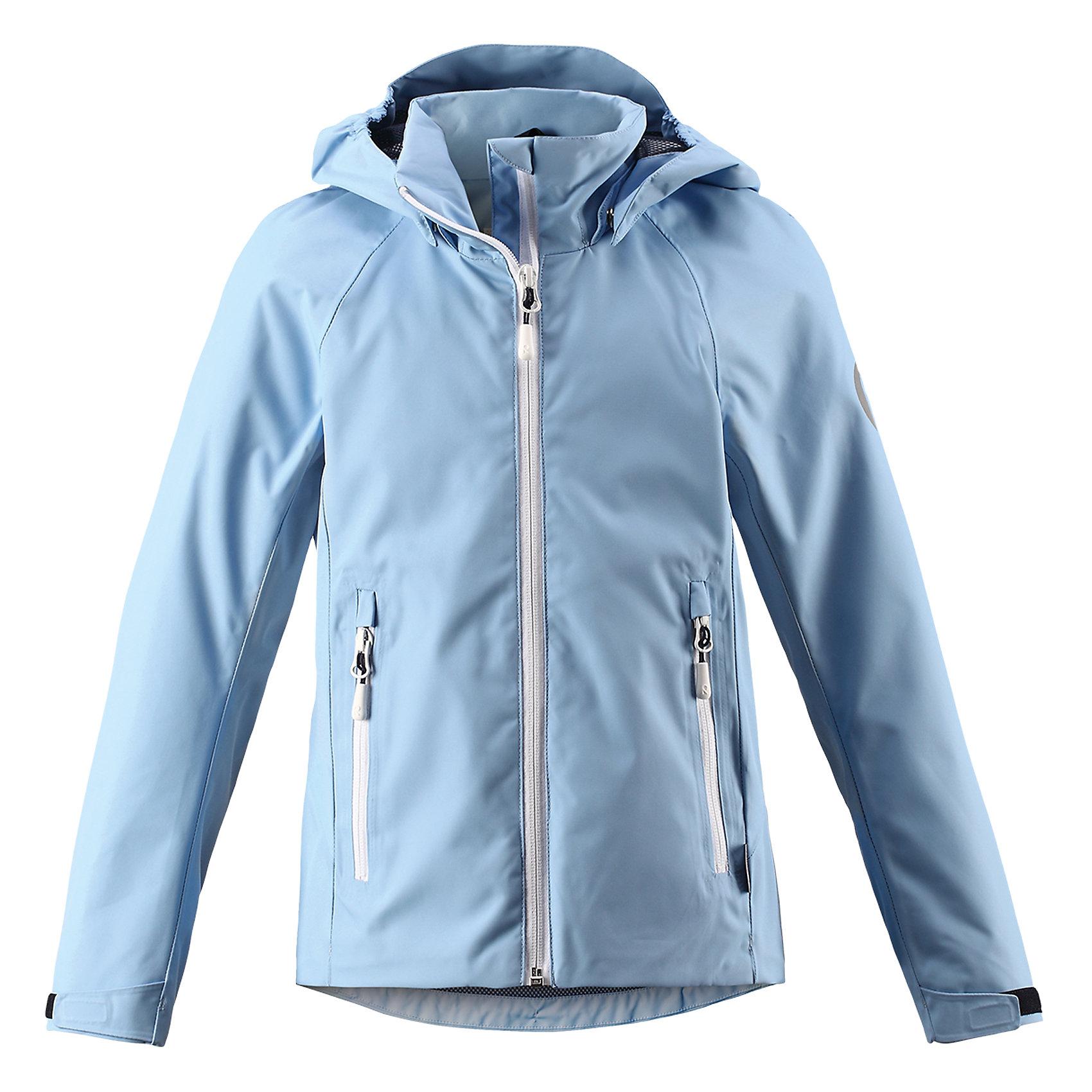 Куртка Suvi для девочки Reimatec® ReimaОдежда<br>Характеристики товара:<br><br>• цвет: голубой<br>• состав: 100% полиэстер, полиуретановое покрытие<br>• температурный режим: от +10°до +20°С<br>• водонепроницаемость: 15000 мм<br>• воздухопроницаемость: 5000 мм<br>• износостойкость: 40000 (тест Мартиндейла)<br>• без утеплителя<br>• подкладка: mesh-сетка<br>• швы проклеены и водонепроницаемы<br>• водо- и ветронепроницаемый «дышащий» материал<br>• регулируемый подол<br>• регулируемые манжеты<br>• безопасный съёмный и регулируемый капюшон<br>• усовершенствованная молния - больше не застрянет!<br>• контрастные цветные застежки-молнии<br>• карманы на молнии<br>• комфортная посадка<br>• страна производства: Китай<br>• страна бренда: Финляндия<br>• коллекция: весна-лето 2017<br><br>Верхняя одежда для детей может быть модной и комфортной одновременно! Демисезонная куртка поможет обеспечить ребенку комфорт и тепло. Она отлично смотрится с различной одеждой и обувью. Изделие удобно сидит и модно выглядит. Материал - прочный, хорошо подходящий для межсезонья. Стильный дизайн разрабатывался специально для детей.<br><br>Одежда и обувь от финского бренда Reima пользуется популярностью во многих странах. Эти изделия стильные, качественные и удобные. Для производства продукции используются только безопасные, проверенные материалы и фурнитура. Порадуйте ребенка модными и красивыми вещами от Reima! <br><br>Куртку для девочки Reimatec® от финского бренда Reima (Рейма) можно купить в нашем интернет-магазине.<br><br>Ширина мм: 356<br>Глубина мм: 10<br>Высота мм: 245<br>Вес г: 519<br>Цвет: синий<br>Возраст от месяцев: 48<br>Возраст до месяцев: 60<br>Пол: Женский<br>Возраст: Детский<br>Размер: 116,122,134,140,146,164,158,128,104,110,152<br>SKU: 5267676