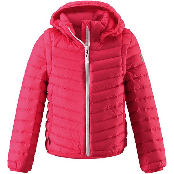 Куртка Float для девочки ReimaОдежда<br>Характеристики товара:<br><br>• цвет: розовый<br>• состав: 100% полиамид<br>• температурный режим: от 0°до +10°С<br>• легкий утеплитель: пух, перо 80/20<br>• износостойкость: 30000 (тест Мартиндейла)<br>• швы проклеены и водонепроницаемы<br>• ветронепроницаемый «дышащий» материал<br>• водоотталкивающий верх<br>• эластичная сборка по краю капюшона, на манжетах и на подоле<br>• отстегивающиеся рукава на молнии<br>• безопасный съёмный капюшон<br>• усовершенствованная молния - ни один зубчик больше не застрянет!<br>• два боковых кармана<br>• светоотражающие детали<br>• комфортная посадка<br>• страна производства: Китай<br>• страна бренда: Финляндия<br>• коллекция: весна-лето 2017<br><br>Верхняя одежда для детей может быть модной и комфортной одновременно! Демисезонная куртка поможет обеспечить ребенку комфорт и тепло. Она отлично смотрится с различной одеждой и обувью. Изделие удобно сидит и модно выглядит. Материал - прочный, хорошо подходящий для межсезонья. Стильный дизайн разрабатывался специально для детей.<br><br>Одежда и обувь от финского бренда Reima пользуется популярностью во многих странах. Эти изделия стильные, качественные и удобные. Для производства продукции используются только безопасные, проверенные материалы и фурнитура. Порадуйте ребенка модными и красивыми вещами от Reima! <br><br>Куртку для девочки Reimatec® от финского бренда Reima (Рейма) можно купить в нашем интернет-магазине.<br><br>Ширина мм: 356<br>Глубина мм: 10<br>Высота мм: 245<br>Вес г: 519<br>Цвет: розовый<br>Возраст от месяцев: 144<br>Возраст до месяцев: 156<br>Пол: Женский<br>Возраст: Детский<br>Размер: 158,128,122,116,104,164,152,110,146,140,134<br>SKU: 5267712