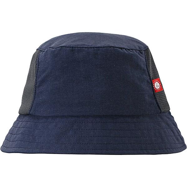 Панама Vimpa для мальчика ReimaШапки и шарфы<br>Характеристики товара:<br><br>• цвет: синий<br>• состав: 92% полиамид, 8% полиэстер<br>• фактор защиты от ультрафиолета: 50+<br>• дышащий материал с охлаждающим эффектом<br>• стильный защитный козырёк<br>• защищает от солнца<br>• облегчённая модель без подкладки<br>• эмблема Reima сбоку<br>• страна бренда: Финляндия<br>• страна производства: Китай<br><br>Детский головной убор может быть модным и удобным одновременно! Стильная панама поможет обеспечить ребенку комфорт и дополнить наряд. Панама удобно сидит и аккуратно выглядит. Проста в уходе, долго служит. Стильный дизайн разрабатывался специально для детей. Отличная защита от солнца!<br><br>Уход:<br><br>• стирать с бельем одинакового цвета<br>• стирать моющим средством, не содержащим отбеливающие вещества<br>• полоскать без специального средства<br>• во избежание изменения цвета изделие необходимо вынуть из стиральной машинки незамедлительно после окончания программы стирки<br>• сушить при низкой температуре.<br><br>Панаму для мальчика от финского бренда Reima (Рейма) можно купить в нашем интернет-магазине.<br>Ширина мм: 89; Глубина мм: 117; Высота мм: 44; Вес г: 155; Цвет: синий; Возраст от месяцев: 18; Возраст до месяцев: 36; Пол: Мужской; Возраст: Детский; Размер: 50,48,56,54,52; SKU: 5267736;