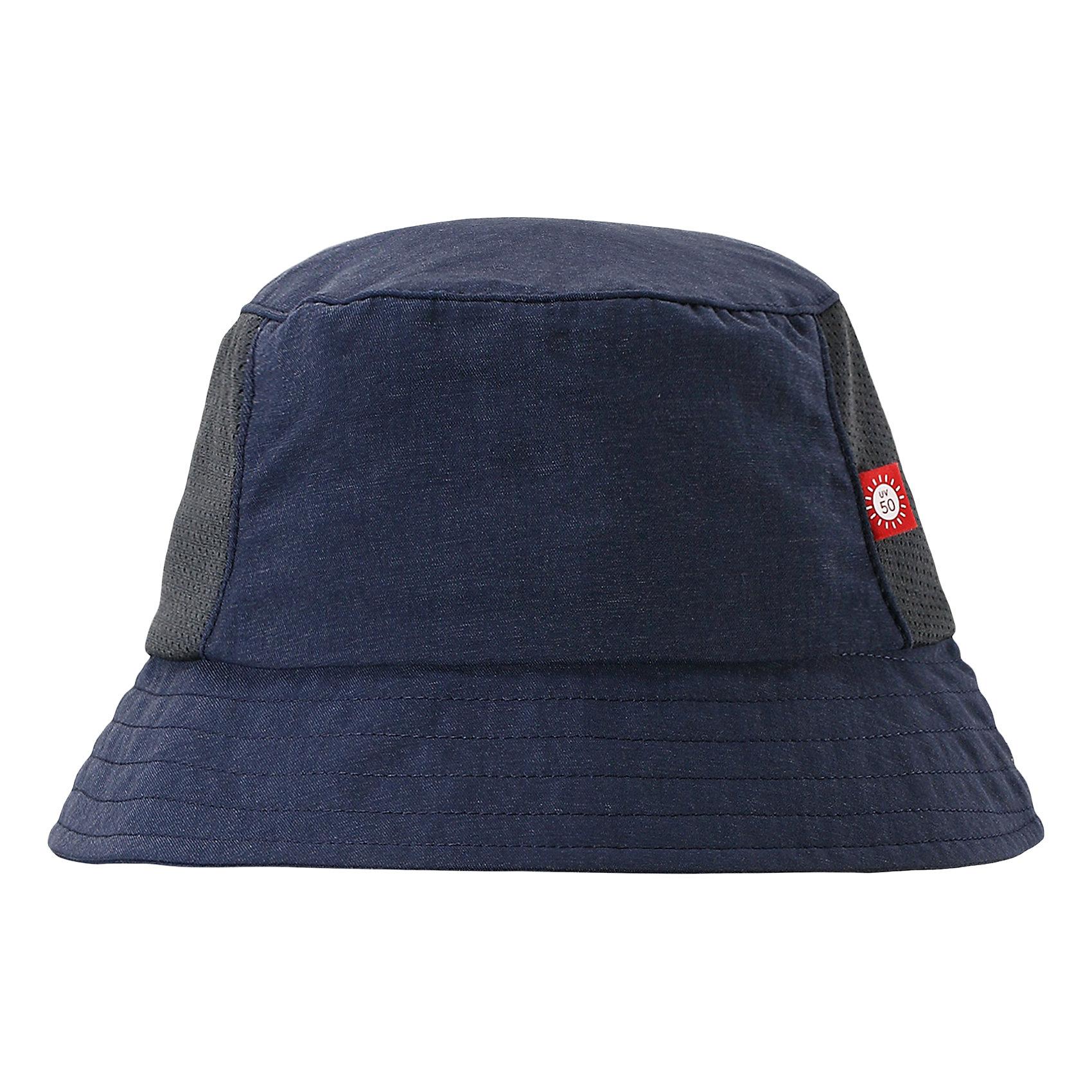 Панама Vimpa для мальчика ReimaШапки и шарфы<br>Характеристики товара:<br><br>• цвет: синий<br>• состав: 92% полиамид, 8% полиэстер<br>• фактор защиты от ультрафиолета: 50+<br>• дышащий материал с охлаждающим эффектом<br>• стильный защитный козырёк<br>• защищает от солнца<br>• облегчённая модель без подкладки<br>• эмблема Reima сбоку<br>• страна бренда: Финляндия<br>• страна производства: Китай<br><br>Детский головной убор может быть модным и удобным одновременно! Стильная панама поможет обеспечить ребенку комфорт и дополнить наряд. Панама удобно сидит и аккуратно выглядит. Проста в уходе, долго служит. Стильный дизайн разрабатывался специально для детей. Отличная защита от солнца!<br><br>Уход:<br><br>• стирать с бельем одинакового цвета<br>• стирать моющим средством, не содержащим отбеливающие вещества<br>• полоскать без специального средства<br>• во избежание изменения цвета изделие необходимо вынуть из стиральной машинки незамедлительно после окончания программы стирки<br>• сушить при низкой температуре.<br><br>Панаму для мальчика от финского бренда Reima (Рейма) можно купить в нашем интернет-магазине.<br><br>Ширина мм: 89<br>Глубина мм: 117<br>Высота мм: 44<br>Вес г: 155<br>Цвет: синий<br>Возраст от месяцев: 18<br>Возраст до месяцев: 36<br>Пол: Мужской<br>Возраст: Детский<br>Размер: 50,56,48,52,54<br>SKU: 5267736