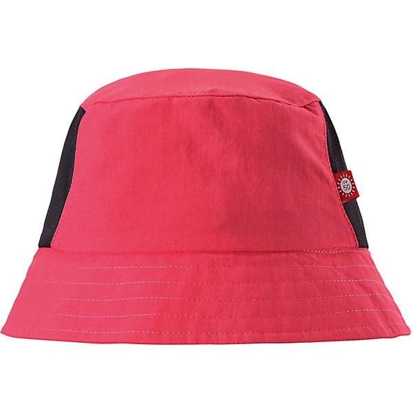 Панама Vimpa для девочки ReimaШапки и шарфы<br>Характеристики товара:<br><br>• цвет: розовый<br>• состав: 92% полиамид, 8% полиэстер<br>• фактор защиты от ультрафиолета: 50+<br>• дышащий материал с охлаждающим эффектом<br>• стильный защитный козырёк<br>• защищает от солнца<br>• облегчённая модель без подкладки<br>• эмблема Reima сбоку<br>• страна бренда: Финляндия<br>• страна производства: Китай<br><br>Детский головной убор может быть модным и удобным одновременно! Стильная панама поможет обеспечить ребенку комфорт и дополнить наряд. Панама удобно сидит и аккуратно выглядит. Проста в уходе, долго служит. Стильный дизайн разрабатывался специально для детей. Отличная защита от солнца!<br><br>Уход:<br><br>• стирать с бельем одинакового цвета<br>• стирать моющим средством, не содержащим отбеливающие вещества<br>• полоскать без специального средства<br>• во избежание изменения цвета изделие необходимо вынуть из стиральной машинки незамедлительно после окончания программы стирки<br>• сушить при низкой температуре.<br><br>Панаму для мальчика от финского бренда Reima (Рейма) можно купить в нашем интернет-магазине.<br><br>Ширина мм: 89<br>Глубина мм: 117<br>Высота мм: 44<br>Вес г: 155<br>Цвет: розовый<br>Возраст от месяцев: 84<br>Возраст до месяцев: 144<br>Пол: Женский<br>Возраст: Детский<br>Размер: 56,48,50,52,54<br>SKU: 5267742