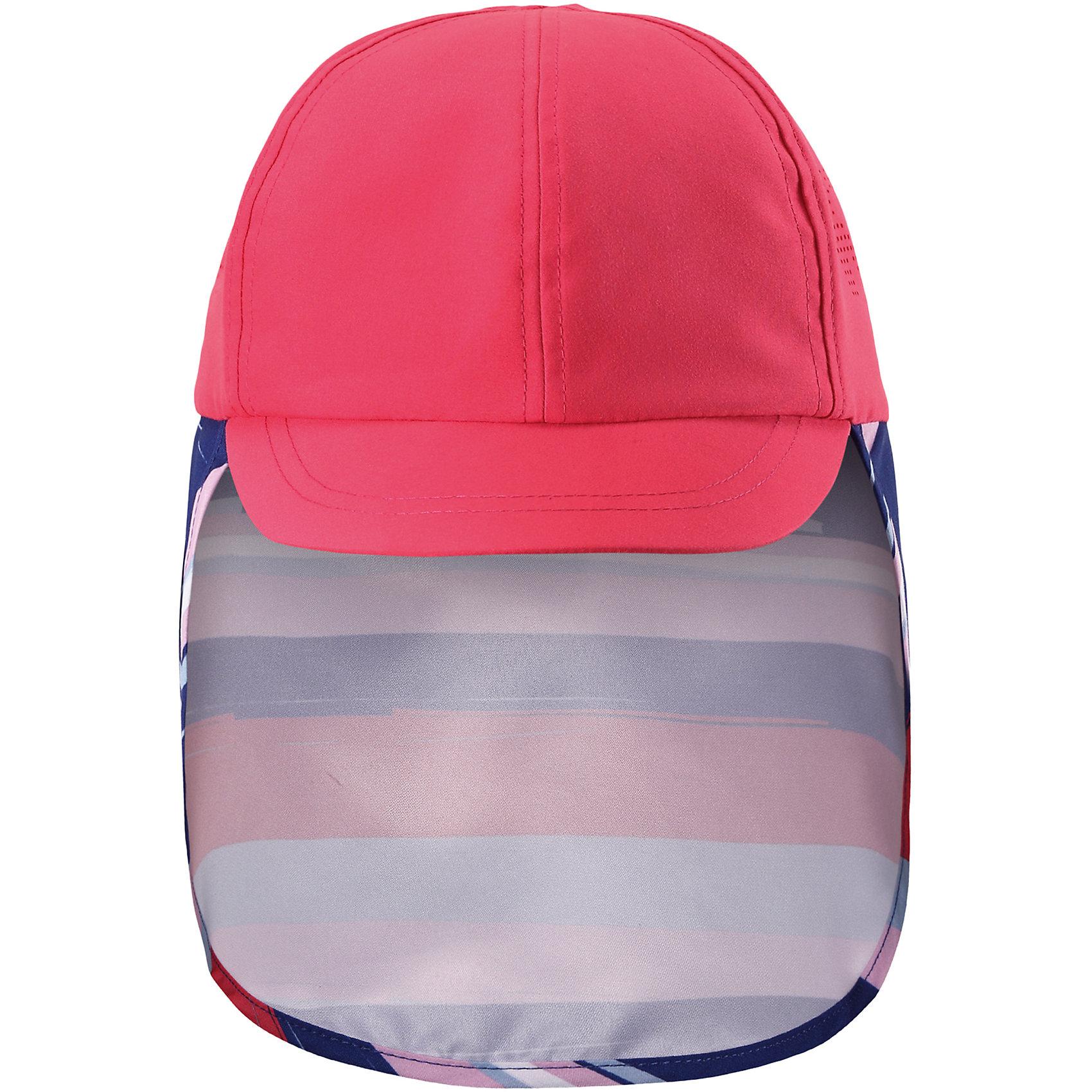 Панама Alytos для девочки ReimaШапки и шарфы<br>Характеристики товара:<br><br>• цвет: розовый<br>• состав: 100% полиэстер<br>• защитный козырек<br>• без подкладки<br>• удлиненная сзади<br>• декоративный логотип<br>• фактор защиты от ультрафиолета: 50+<br>• комфортная посадка<br>• страна производства: Китай<br>• страна бренда: Финляндия<br>• коллекция: весна-лето 2017<br><br>Детский головной убор может быть модным и удобным одновременно! Стильная панама поможет обеспечить ребенку комфорт и дополнить наряд. Она отлично смотрится с различной одеждой. Панама удобно сидит и аккуратно выглядит. Проста в уходе, долго служит. Стильный дизайн разрабатывался специально для детей. Отличная защита от солнца!<br><br>Одежда и обувь от финского бренда Reima пользуется популярностью во многих странах. Эти изделия стильные, качественные и удобные. Для производства продукции используются только безопасные, проверенные материалы и фурнитура. Порадуйте ребенка модными и красивыми вещами от Reima! <br><br>Панаму для мальчика от финского бренда Reima (Рейма) можно купить в нашем интернет-магазине.<br><br>Уход:<br>Стирать по отдельности. Полоскать без специального средства. Сушить при низкой температуре.<br><br>Ширина мм: 212<br>Глубина мм: 167<br>Высота мм: 106<br>Вес г: 62<br>Цвет: розовый<br>Возраст от месяцев: 6<br>Возраст до месяцев: 18<br>Пол: Женский<br>Возраст: Детский<br>Размер: 48,54,50,46,56,52<br>SKU: 5267785