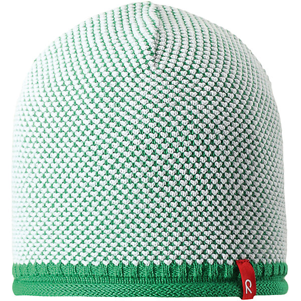 Шапка Seilori для мальчика ReimaШапки и шарфы<br>Характеристики товара:<br><br>• цвет: зеленый<br>• состав: 100% хлопок<br>• температурный режим: от +10С<br>• эластичный хлопковый трикотаж<br>• изделие сертифицированно по стандарту Oeko-Tex на продукцию класса 2 - одежда, контактирующая с кожей<br>• облегчённая модель без подкладки<br>• эмблема Reima спереди<br>• декоративная структурная вязка<br>• страна бренда: Финляндия<br>• страна производства: Китай<br><br>Детский головной убор может быть модным и удобным одновременно! Стильная шапка поможет обеспечить ребенку комфорт и дополнить наряд. Шапка удобно сидит и аккуратно выглядит. Проста в уходе, долго служит. Стильный дизайн разрабатывался специально для детей. Отличная защита от дождя и ветра!<br><br>Уход:<br><br>• стирать по отдельности, вывернув наизнанку<br>• придать первоначальную форму вo влажном виде<br>• возможна усадка 5 %.<br><br>Шапку для мальчика от финского бренда Reima (Рейма) можно купить в нашем интернет-магазине.<br><br>Ширина мм: 89<br>Глубина мм: 117<br>Высота мм: 44<br>Вес г: 155<br>Цвет: зеленый<br>Возраст от месяцев: 18<br>Возраст до месяцев: 36<br>Пол: Мужской<br>Возраст: Детский<br>Размер: 50,56,54,52<br>SKU: 5267799
