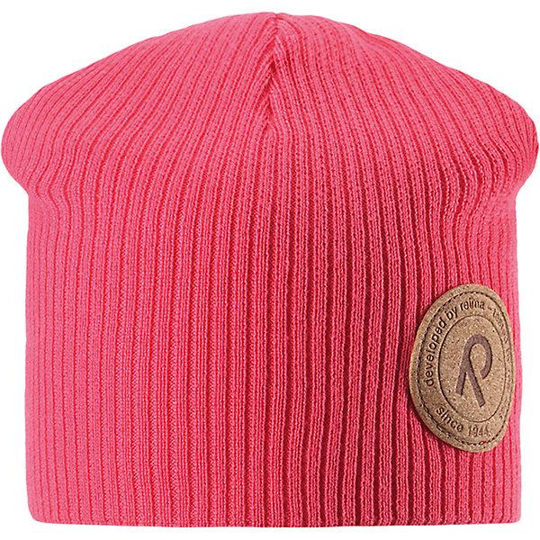 Шапка Majakka для девочки ReimaШапки и шарфы<br>Характеристики товара:<br><br>• цвет: розовый<br>• состав: 100% хлопок<br>• температурный режим: от +5С<br>• эластичный хлопковый трикотаж<br>• изделие сертифицированно по стандарту Oeko-Tex на продукцию класса 2 - одежда, контактирующая с кожей<br>• сплошная подкладка из хлопкового трикотажа<br>• эмблема Reima спереди<br>• страна бренда: Финляндия<br>• страна производства: Китай<br><br>Детский головной убор может быть модным и удобным одновременно! Стильная шапка поможет обеспечить ребенку комфорт и дополнить наряд. Шапка удобно сидит и аккуратно выглядит. Проста в уходе, долго служит. Стильный дизайн разрабатывался специально для детей. Отличная защита от дождя и ветра!<br><br>Уход:<br><br>• стирать по отдельности, вывернув наизнанку<br>• придать первоначальную форму вo влажном виде<br>• возможна усадка 5 %.<br><br>Шапку от финского бренда Reima (Рейма) можно купить в нашем интернет-магазине.<br><br>Ширина мм: 89<br>Глубина мм: 117<br>Высота мм: 44<br>Вес г: 155<br>Цвет: розовый<br>Возраст от месяцев: 84<br>Возраст до месяцев: 144<br>Пол: Женский<br>Возраст: Детский<br>Размер: 56,52,50,54<br>SKU: 5267841