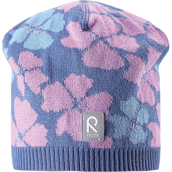 Шапка Paradise для девочки ReimaШапки и шарфы<br>Характеристики товара:<br><br>• цвет: сиреневый<br>• состав: 100% хлопок<br>• температурный режим: от +10С<br>• эластичный хлопковый трикотаж<br>• изделие сертифицированно по стандарту Oeko-Tex на продукцию класса 2 - одежда, контактирующая с кожей<br>• облегчённая модель без подкладки<br>• эмблема Reima спереди<br>• сплошная жаккардовая узорная вязка<br>• светоотражающая эмблема спереди<br>• страна бренда: Финляндия<br>• страна производства: Китай<br><br>Детский головной убор может быть модным и удобным одновременно! Стильная шапка поможет обеспечить ребенку комфорт и дополнить наряд.Шапка удобно сидит и аккуратно выглядит. Проста в уходе, долго служит. Стильный дизайн разрабатывался специально для детей. Отличная защита от дождя и ветра!<br><br>Уход:<br><br>• стирать по отдельности, вывернув наизнанку<br>• придать первоначальную форму вo влажном виде<br>• возможна усадка 5 %.<br><br>Шапку для девочки от финского бренда Reima (Рейма) можно купить в нашем интернет-магазине.<br><br>Ширина мм: 89<br>Глубина мм: 117<br>Высота мм: 44<br>Вес г: 155<br>Цвет: синий<br>Возраст от месяцев: 18<br>Возраст до месяцев: 36<br>Пол: Женский<br>Возраст: Детский<br>Размер: 50,56,54,52<br>SKU: 5267846