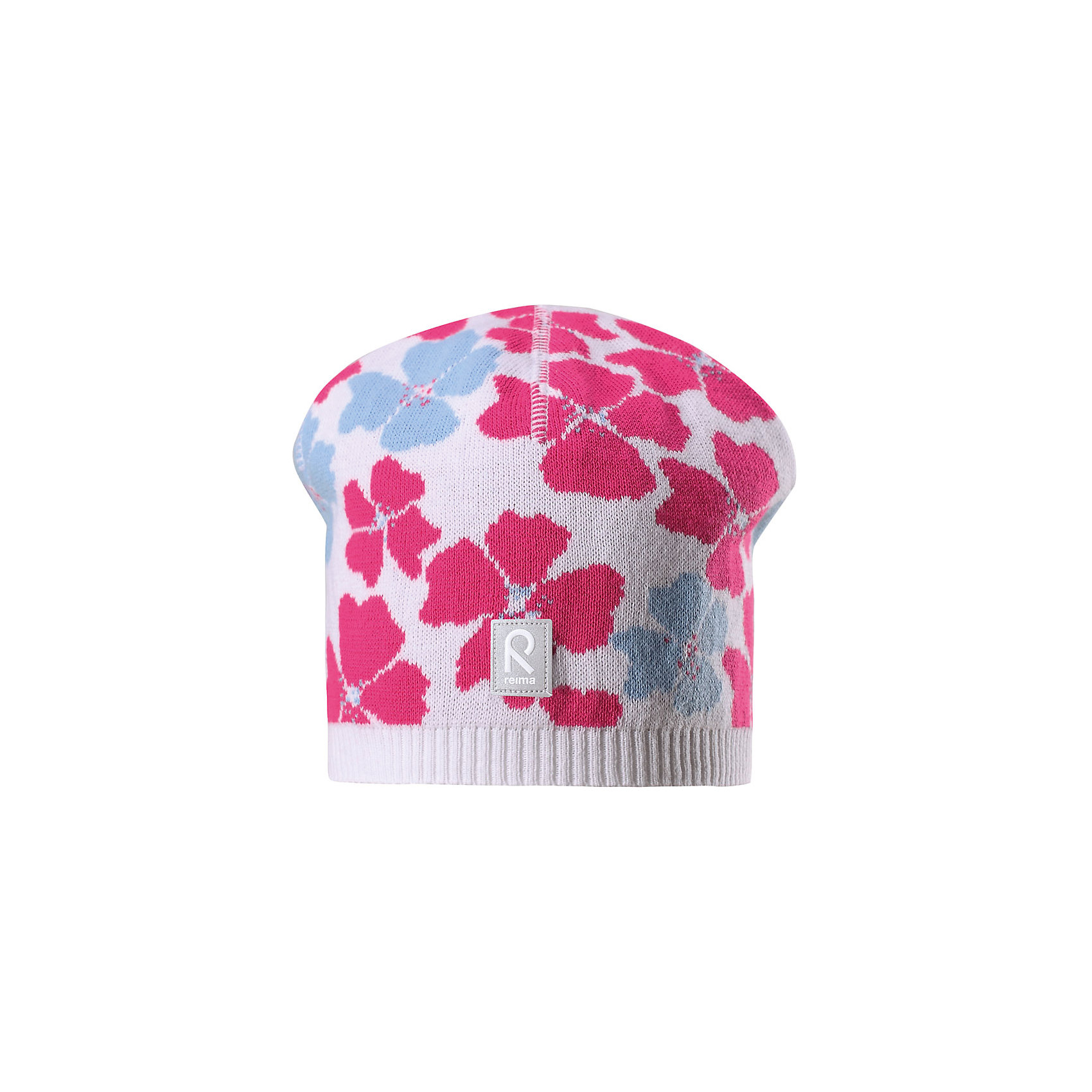 Шапка Paradise для девочки ReimaШапки и шарфы<br>Характеристики товара:<br><br>• цвет: белый<br>• состав: 100% хлопок<br>• температурный режим: от +10С<br>• эластичный хлопковый трикотаж<br>• изделие сертифицированно по стандарту Oeko-Tex на продукцию класса 2 - одежда, контактирующая с кожей<br>• облегчённая модель без подкладки<br>• эмблема Reima спереди<br>• сплошная жаккардовая узорная вязка<br>• светоотражающая эмблема спереди<br>• страна бренда: Финляндия<br>• страна производства: Китай<br><br>Детский головной убор может быть модным и удобным одновременно! Стильная шапка поможет обеспечить ребенку комфорт и дополнить наряд.Шапка удобно сидит и аккуратно выглядит. Проста в уходе, долго служит. Стильный дизайн разрабатывался специально для детей. Отличная защита от дождя и ветра!<br><br>Уход:<br><br>• стирать по отдельности, вывернув наизнанку<br>• придать первоначальную форму вo влажном виде<br>• возможна усадка 5 %.<br><br>Шапку для девочки от финского бренда Reima (Рейма) можно купить в нашем интернет-магазине.<br><br>Ширина мм: 89<br>Глубина мм: 117<br>Высота мм: 44<br>Вес г: 155<br>Цвет: белый<br>Возраст от месяцев: 24<br>Возраст до месяцев: 60<br>Пол: Женский<br>Возраст: Детский<br>Размер: 52,54,56,50<br>SKU: 5267851
