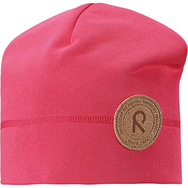 Шапка Puhkus для девочки ReimaШапки и шарфы<br>Характеристики товара:<br><br>• цвет: розовый<br>• состав: 55% полиэстер, 45% хлопок<br>• температурный режим: от +5°до +15°С<br>• эластичный материал<br>• мягкая футер изнутри<br>• без подкладки<br>• логотип<br>• комфортная посадка<br>• страна производства: Китай<br>• страна бренда: Финляндия<br>• коллекция: весна-лето 2017<br><br>Детский головной убор может быть модным и удобным одновременно! Стильная шапка поможет обеспечить ребенку комфорт и дополнить наряд. Она отлично смотрится с различной одеждой. Шапка удобно сидит и аккуратно выглядит. Проста в уходе, долго служит. Продуманный крой разрабатывался специально для детей.<br><br>Обувь и одежда от финского бренда Reima пользуются популярностью во многих странах. Они стильные, качественные и удобные. Для производства продукции используются только безопасные, проверенные материалы и фурнитура. Порадуйте ребенка модными и красивыми вещами от Lassie®! <br><br>Шапку для девочки от финского бренда Reima можно купить в нашем интернет-магазине.<br>Ширина мм: 89; Глубина мм: 117; Высота мм: 44; Вес г: 155; Цвет: розовый; Возраст от месяцев: 18; Возраст до месяцев: 36; Пол: Женский; Возраст: Детский; Размер: 50,54; SKU: 5267886;