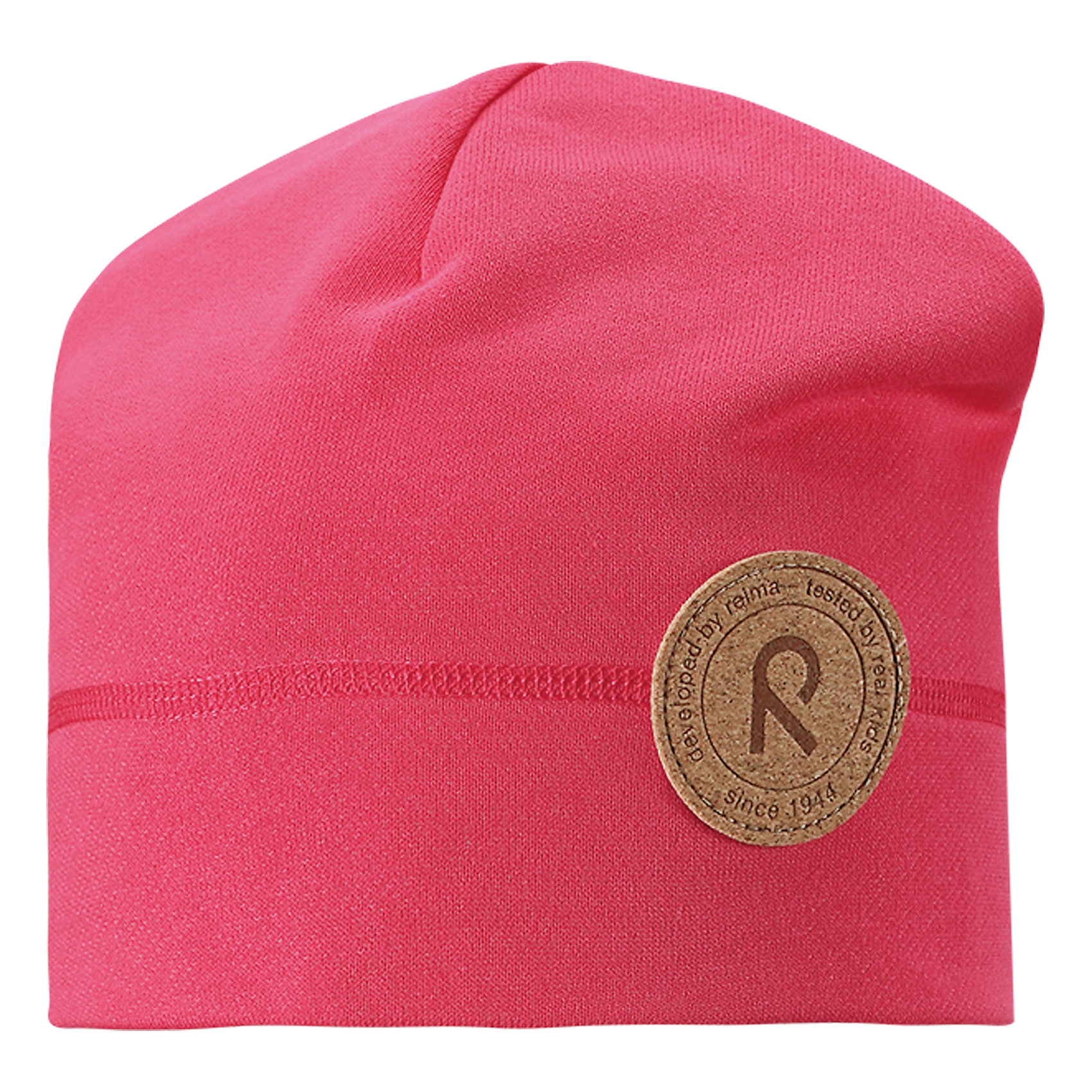 Шапка Puhkus для девочки ReimaШапки и шарфы<br>Характеристики товара:<br><br>• цвет: розовый<br>• состав: 55% полиэстер, 45% хлопок<br>• температурный режим: от +5°до +15°С<br>• эластичный материал<br>• мягкая футер изнутри<br>• без подкладки<br>• логотип<br>• комфортная посадка<br>• страна производства: Китай<br>• страна бренда: Финляндия<br>• коллекция: весна-лето 2017<br><br>Детский головной убор может быть модным и удобным одновременно! Стильная шапка поможет обеспечить ребенку комфорт и дополнить наряд. Она отлично смотрится с различной одеждой. Шапка удобно сидит и аккуратно выглядит. Проста в уходе, долго служит. Продуманный крой разрабатывался специально для детей.<br><br>Обувь и одежда от финского бренда Reima пользуются популярностью во многих странах. Они стильные, качественные и удобные. Для производства продукции используются только безопасные, проверенные материалы и фурнитура. Порадуйте ребенка модными и красивыми вещами от Lassie®! <br><br>Шапку для девочки от финского бренда Reima можно купить в нашем интернет-магазине.<br><br>Ширина мм: 89<br>Глубина мм: 117<br>Высота мм: 44<br>Вес г: 155<br>Цвет: розовый<br>Возраст от месяцев: 48<br>Возраст до месяцев: 84<br>Пол: Женский<br>Возраст: Детский<br>Размер: 54,50<br>SKU: 5267886