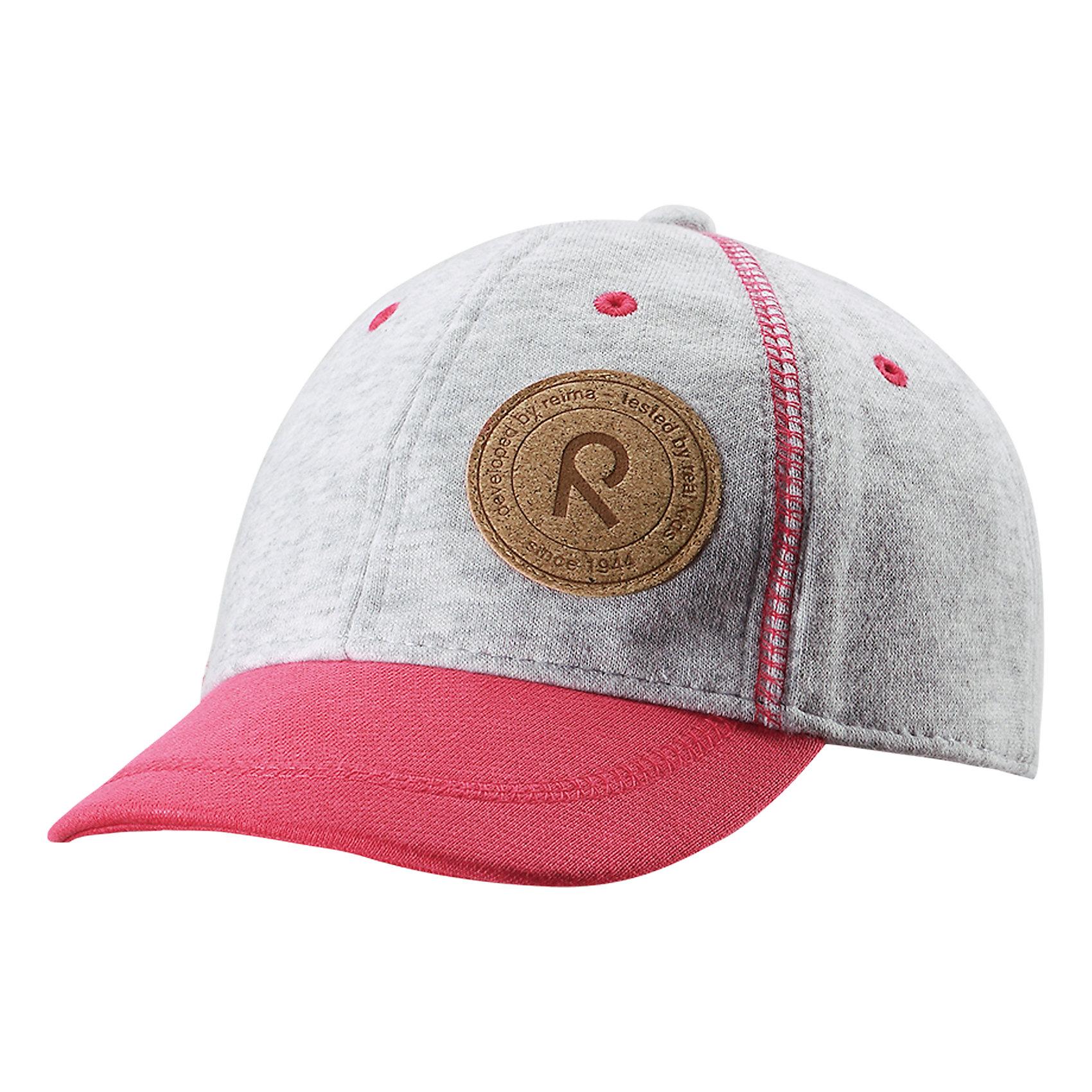 Кепка Purje для девочки ReimaХарактеристики товара:<br><br>• цвет: розовый/серый<br>• температурный режим: от +5°до +15°С<br>• состав: 55% полиэстер, 45% хлопок<br>• защитный козырек<br>• без подкладки<br>• эластичный материал<br>• декоративный логотип<br>• футер с внутренней стороны<br>• комфортная посадка<br>• страна производства: Китай<br>• страна бренда: Финляндия<br>• коллекция: весна-лето 2017<br><br>Детский головной убор может быть модным и удобным одновременно! Стильная кепка поможет обеспечить ребенку комфорт и дополнить наряд. Она отлично смотрится с различной одеждой. Кепка удобно сидит и аккуратно выглядит. Проста в уходе, долго служит. Стильный дизайн разрабатывался специально для детей. <br><br>Одежда и обувь от финского бренда Reima пользуется популярностью во многих странах. Эти изделия стильные, качественные и удобные. Для производства продукции используются только безопасные, проверенные материалы и фурнитура. Порадуйте ребенка модными и красивыми вещами от Reima! <br><br>Кепку для мальчика от финского бренда Reima (Рейма) можно купить в нашем интернет-магазине.<br><br>Ширина мм: 89<br>Глубина мм: 117<br>Высота мм: 44<br>Вес г: 155<br>Цвет: розовый<br>Возраст от месяцев: 48<br>Возраст до месяцев: 84<br>Пол: Женский<br>Возраст: Детский<br>Размер: 54,50<br>SKU: 5267892
