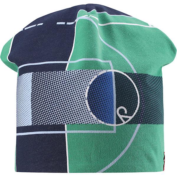 Шапка Frappe для мальчика ReimaШапки и шарфы<br>Характеристики товара:<br><br>• цвет: зеленый/синий<br>• быстросохнущий материал<br>• состав: 65% хлопок, 30% полиэстер, 5% эластан<br>• температурный режим: от +5°до +15°С<br>• эластичный материал<br>• сплошная подкладка: влаговыводящий трикотаж<br>• двухсторонняя<br>• отводящий влагу материал Play Jersey<br>• декоративный логотип<br>• фактор защиты от ультрафиолета: 40+<br>• комфортная посадка<br>• страна производства: Китай<br>• страна бренда: Финляндия<br>• коллекция: весна-лето 2017<br><br>Детский головной убор может быть модным и удобным одновременно! Стильная шапка поможет обеспечить ребенку комфорт и дополнить наряд. Она отлично смотрится с различной одеждой. Шапка удобно сидит и аккуратно выглядит. Проста в уходе, долго служит. Стильный дизайн разрабатывался специально для детей. Отличная защита от солнца!<br><br>Одежда и обувь от финского бренда Reima пользуется популярностью во многих странах. Эти изделия стильные, качественные и удобные. Для производства продукции используются только безопасные, проверенные материалы и фурнитура. Порадуйте ребенка модными и красивыми вещами от Reima! <br><br>Шапку для мальчика от финского бренда Reima (Рейма) можно купить в нашем интернет-магазине.<br><br>Ширина мм: 89<br>Глубина мм: 117<br>Высота мм: 44<br>Вес г: 155<br>Цвет: зеленый<br>Возраст от месяцев: 18<br>Возраст до месяцев: 36<br>Пол: Мужской<br>Возраст: Детский<br>Размер: 50,54<br>SKU: 5267898