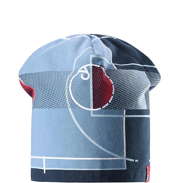 Шапка Frappe ReimaШапки и шарфы<br>Характеристики товара:<br><br>• цвет: голубой/синий<br>• быстросохнущий материал<br>• состав: 65% хлопок, 30% полиэстер, 5% эластан<br>• температурный режим: от +5°до +15°С<br>• эластичный материал<br>• сплошная подкладка: влаговыводящий трикотаж<br>• двухсторонняя<br>• отводящий влагу материал Play Jersey<br>• декоративный логотип<br>• фактор защиты от ультрафиолета: 40+<br>• комфортная посадка<br>• страна производства: Китай<br>• страна бренда: Финляндия<br>• коллекция: весна-лето 2017<br><br>Детский головной убор может быть модным и удобным одновременно! Стильная шапка поможет обеспечить ребенку комфорт и дополнить наряд. Она отлично смотрится с различной одеждой. Шапка удобно сидит и аккуратно выглядит. Проста в уходе, долго служит. Стильный дизайн разрабатывался специально для детей. Отличная защита от солнца!<br><br>Одежда и обувь от финского бренда Reima пользуется популярностью во многих странах. Эти изделия стильные, качественные и удобные. Для производства продукции используются только безопасные, проверенные материалы и фурнитура. Порадуйте ребенка модными и красивыми вещами от Reima! <br><br>Шапку для мальчика от финского бренда Reima (Рейма) можно купить в нашем интернет-магазине.<br><br>Ширина мм: 89<br>Глубина мм: 117<br>Высота мм: 44<br>Вес г: 155<br>Цвет: синий<br>Возраст от месяцев: 18<br>Возраст до месяцев: 36<br>Пол: Унисекс<br>Возраст: Детский<br>Размер: 50,54<br>SKU: 5267907