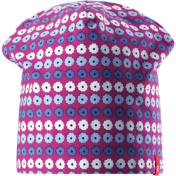 Шапка Frappe для девочки ReimaШапки и шарфы<br>Характеристики товара:<br><br>• цвет: фиолетовый/розовый<br>• быстросохнущий материал<br>• состав: 65% хлопок, 30% полиэстер, 5% эластан<br>• температурный режим: от +5°до +15°С<br>• эластичный материал<br>• сплошная подкладка: влаговыводящий трикотаж<br>• двухсторонняя<br>• отводящий влагу материал Play Jersey<br>• декоративный логотип<br>• фактор защиты от ультрафиолета: 40+<br>• комфортная посадка<br>• страна производства: Китай<br>• страна бренда: Финляндия<br>• коллекция: весна-лето 2017<br><br>Детский головной убор может быть модным и удобным одновременно! Стильная шапка поможет обеспечить ребенку комфорт и дополнить наряд. Она отлично смотрится с различной одеждой. Шапка удобно сидит и аккуратно выглядит. Проста в уходе, долго служит. Стильный дизайн разрабатывался специально для детей. Отличная защита от солнца!<br><br>Одежда и обувь от финского бренда Reima пользуется популярностью во многих странах. Эти изделия стильные, качественные и удобные. Для производства продукции используются только безопасные, проверенные материалы и фурнитура. Порадуйте ребенка модными и красивыми вещами от Reima! <br><br>Шапку для мальчика от финского бренда Reima (Рейма) можно купить в нашем интернет-магазине.<br>Ширина мм: 89; Глубина мм: 117; Высота мм: 44; Вес г: 155; Цвет: розовый; Возраст от месяцев: 18; Возраст до месяцев: 36; Пол: Женский; Возраст: Детский; Размер: 50,54; SKU: 5267913;