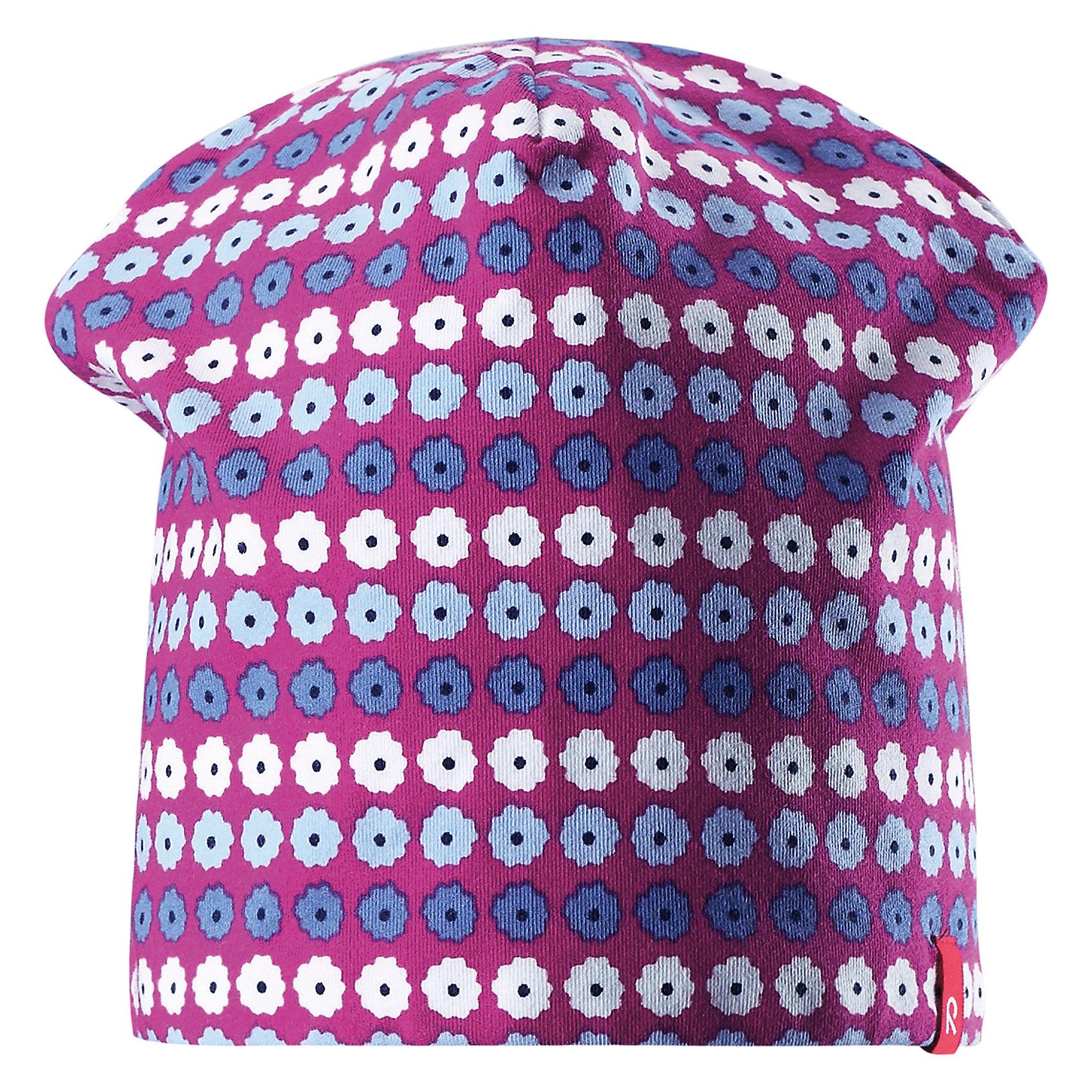 Шапка Frappe для девочки ReimaХарактеристики товара:<br><br>• цвет: фиолетовый/розовый<br>• быстросохнущий материал<br>• состав: 65% хлопок, 30% полиэстер, 5% эластан<br>• температурный режим: от +5°до +15°С<br>• эластичный материал<br>• сплошная подкладка: влаговыводящий трикотаж<br>• двухсторонняя<br>• отводящий влагу материал Play Jersey<br>• декоративный логотип<br>• фактор защиты от ультрафиолета: 40+<br>• комфортная посадка<br>• страна производства: Китай<br>• страна бренда: Финляндия<br>• коллекция: весна-лето 2017<br><br>Детский головной убор может быть модным и удобным одновременно! Стильная шапка поможет обеспечить ребенку комфорт и дополнить наряд. Она отлично смотрится с различной одеждой. Шапка удобно сидит и аккуратно выглядит. Проста в уходе, долго служит. Стильный дизайн разрабатывался специально для детей. Отличная защита от солнца!<br><br>Одежда и обувь от финского бренда Reima пользуется популярностью во многих странах. Эти изделия стильные, качественные и удобные. Для производства продукции используются только безопасные, проверенные материалы и фурнитура. Порадуйте ребенка модными и красивыми вещами от Reima! <br><br>Шапку для мальчика от финского бренда Reima (Рейма) можно купить в нашем интернет-магазине.<br><br>Ширина мм: 89<br>Глубина мм: 117<br>Высота мм: 44<br>Вес г: 155<br>Цвет: розовый<br>Возраст от месяцев: 48<br>Возраст до месяцев: 84<br>Пол: Женский<br>Возраст: Детский<br>Размер: 54,50<br>SKU: 5267913