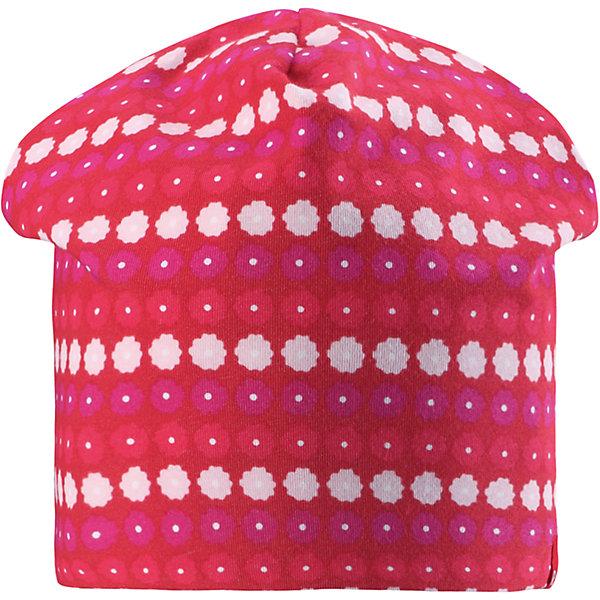 Шапка для девочки ReimaШапки и шарфы<br>Характеристики товара:<br><br>• цвет: красный<br>• быстросохнущий материал<br>• состав: 65% хлопок, 30% полиэстер, 5% эластан<br>• температурный режим: от +5°до +15°С<br>• эластичный материал<br>• сплошная подкладка: влаговыводящий трикотаж<br>• двухсторонняя<br>• отводящий влагу материал Play Jersey<br>• декоративный логотип<br>• фактор защиты от ультрафиолета: 40+<br>• комфортная посадка<br>• страна производства: Китай<br>• страна бренда: Финляндия<br>• коллекция: весна-лето 2017<br><br>Детский головной убор может быть модным и удобным одновременно! Стильная шапка поможет обеспечить ребенку комфорт и дополнить наряд. Она отлично смотрится с различной одеждой. Шапка удобно сидит и аккуратно выглядит. Проста в уходе, долго служит. Стильный дизайн разрабатывался специально для детей. Отличная защита от солнца!<br><br>Одежда и обувь от финского бренда Reima пользуется популярностью во многих странах. Эти изделия стильные, качественные и удобные. Для производства продукции используются только безопасные, проверенные материалы и фурнитура. Порадуйте ребенка модными и красивыми вещами от Reima! <br><br>Шапку для мальчика от финского бренда Reima (Рейма) можно купить в нашем интернет-магазине.<br>Ширина мм: 89; Глубина мм: 117; Высота мм: 44; Вес г: 155; Цвет: красный; Возраст от месяцев: 18; Возраст до месяцев: 36; Пол: Женский; Возраст: Детский; Размер: 50,54; SKU: 5267916;