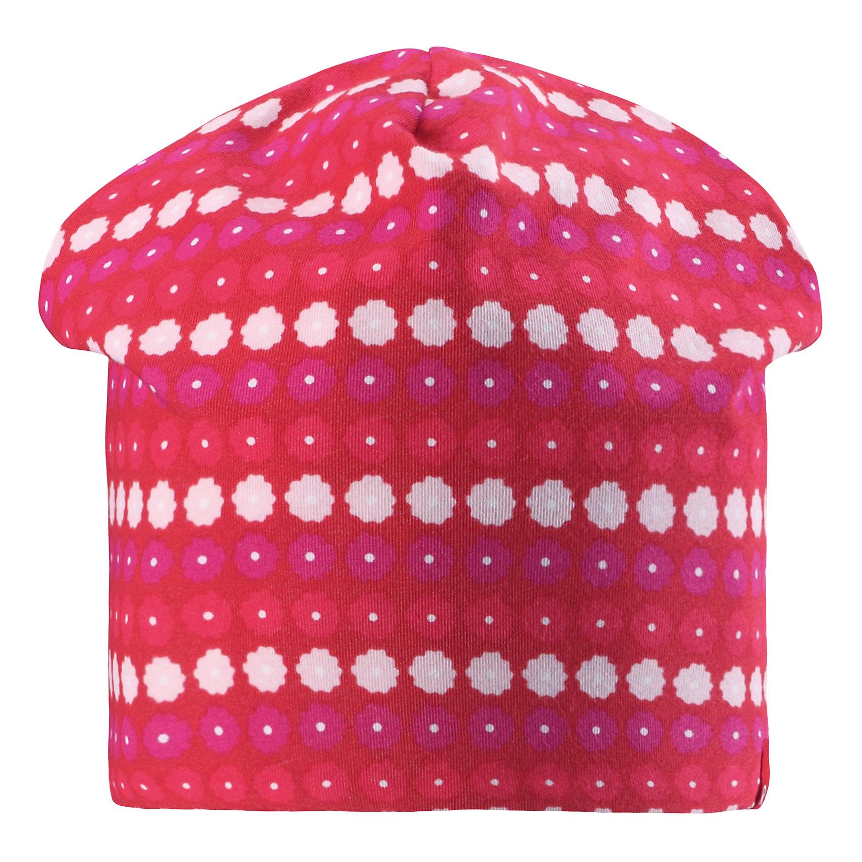 Шапка для девочки ReimaХарактеристики товара:<br><br>• цвет: красный<br>• быстросохнущий материал<br>• состав: 65% хлопок, 30% полиэстер, 5% эластан<br>• температурный режим: от +5°до +15°С<br>• эластичный материал<br>• сплошная подкладка: влаговыводящий трикотаж<br>• двухсторонняя<br>• отводящий влагу материал Play Jersey<br>• декоративный логотип<br>• фактор защиты от ультрафиолета: 40+<br>• комфортная посадка<br>• страна производства: Китай<br>• страна бренда: Финляндия<br>• коллекция: весна-лето 2017<br><br>Детский головной убор может быть модным и удобным одновременно! Стильная шапка поможет обеспечить ребенку комфорт и дополнить наряд. Она отлично смотрится с различной одеждой. Шапка удобно сидит и аккуратно выглядит. Проста в уходе, долго служит. Стильный дизайн разрабатывался специально для детей. Отличная защита от солнца!<br><br>Одежда и обувь от финского бренда Reima пользуется популярностью во многих странах. Эти изделия стильные, качественные и удобные. Для производства продукции используются только безопасные, проверенные материалы и фурнитура. Порадуйте ребенка модными и красивыми вещами от Reima! <br><br>Шапку для мальчика от финского бренда Reima (Рейма) можно купить в нашем интернет-магазине.<br><br>Ширина мм: 89<br>Глубина мм: 117<br>Высота мм: 44<br>Вес г: 155<br>Цвет: красный<br>Возраст от месяцев: 18<br>Возраст до месяцев: 36<br>Пол: Женский<br>Возраст: Детский<br>Размер: 50,54<br>SKU: 5267916