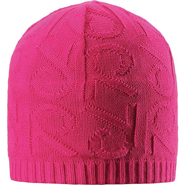 Шапка Ankkuri для девочки ReimaШапки и шарфы<br>Характеристики товара:<br><br>• цвет: фуксия<br>• состав: 100% хлопок<br>• температурный режим: от +7С<br>• эластичный хлопковый трикотаж<br>• изделие сертифицированно по стандарту Oeko-Tex на продукцию класса 2 - одежда, контактирующая с кожей<br>• ветронепроницаемые вставки в области ушей<br>• полуподкладка: хлопковый трикотаж<br>• эмблема Reima сзади<br>• декортивная структурная вязка<br>• светоотражающая эмблема сзади<br>• страна бренда: Финляндия<br>• страна производства: Китай<br><br>Детский головной убор может быть модным и удобным одновременно! Стильная шапка поможет обеспечить ребенку комфорт и дополнить наряд.Шапка удобно сидит и аккуратно выглядит. Проста в уходе, долго служит. Стильный дизайн разрабатывался специально для детей. Отличная защита от дождя и ветра!<br><br>Уход:<br><br>• стирать по отдельности, вывернув наизнанку<br>• придать первоначальную форму вo влажном виде<br>• возможна усадка 5 %.<br><br>Шапку от финского бренда Reima (Рейма) можно купить в нашем интернет-магазине.<br>Ширина мм: 89; Глубина мм: 117; Высота мм: 44; Вес г: 155; Цвет: розовый; Возраст от месяцев: 24; Возраст до месяцев: 60; Пол: Женский; Возраст: Детский; Размер: 52,50,54,56; SKU: 5267945;