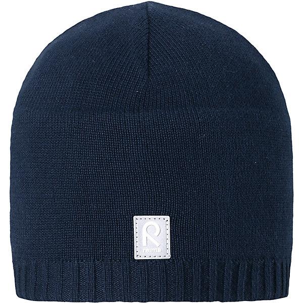 Шапка Datoline ReimaШапки и шарфы<br>Характеристики товара:<br><br>• цвет: тёмно-синий<br>• состав: 100% хлопок<br>• температурный режим: от +7С<br>• эластичный хлопковый трикотаж<br>• изделие сертифицированно по стандарту Oeko-Tex на продукцию класса 2 - одежда, контактирующая с кожей<br>• ветронепроницаемые вставки в области ушей<br>• полуподкладка: хлопковый трикотаж<br>• эмблема Reima спереди<br>• светоотражающая эмблема спереди<br>• страна бренда: Финляндия<br>• страна производства: Китай<br><br>Детский головной убор может быть модным и удобным одновременно! Стильная шапка поможет обеспечить ребенку комфорт и дополнить наряд.Шапка удобно сидит и аккуратно выглядит. Проста в уходе, долго служит. Стильный дизайн разрабатывался специально для детей. Отличная защита от дождя и ветра!<br><br>Уход:<br><br>• стирать по отдельности, вывернув наизнанку<br>• придать первоначальную форму вo влажном виде<br>• возможна усадка 5 %.<br><br>Шапку от финского бренда Reima (Рейма) можно купить в нашем интернет-магазине.<br><br>Ширина мм: 89<br>Глубина мм: 117<br>Высота мм: 44<br>Вес г: 155<br>Цвет: синий<br>Возраст от месяцев: 18<br>Возраст до месяцев: 36<br>Пол: Унисекс<br>Возраст: Детский<br>Размер: 50,56,54,52<br>SKU: 5267960