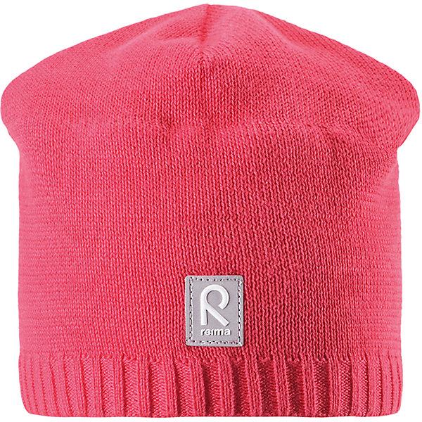 Шапка Datoline для девочки ReimaШапки и шарфы<br>Характеристики товара:<br><br>• цвет: розовый<br>• состав: 100% хлопок<br>• температурный режим: от +7С<br>• эластичный хлопковый трикотаж<br>• изделие сертифицированно по стандарту Oeko-Tex на продукцию класса 2 - одежда, контактирующая с кожей<br>• ветронепроницаемые вставки в области ушей<br>• полуподкладка: хлопковый трикотаж<br>• эмблема Reima спереди<br>• светоотражающая эмблема спереди<br>• страна бренда: Финляндия<br>• страна производства: Китай<br><br>Детский головной убор может быть модным и удобным одновременно! Стильная шапка поможет обеспечить ребенку комфорт и дополнить наряд.Шапка удобно сидит и аккуратно выглядит. Проста в уходе, долго служит. Стильный дизайн разрабатывался специально для детей. Отличная защита от дождя и ветра!<br><br>Уход:<br><br>• стирать по отдельности, вывернув наизнанку<br>• придать первоначальную форму вo влажном виде<br>• возможна усадка 5 %.<br><br>Шапку от финского бренда Reima (Рейма) можно купить в нашем интернет-магазине.<br><br>Ширина мм: 89<br>Глубина мм: 117<br>Высота мм: 44<br>Вес г: 155<br>Цвет: розовый<br>Возраст от месяцев: 24<br>Возраст до месяцев: 60<br>Пол: Женский<br>Возраст: Детский<br>Размер: 52,50,56,54<br>SKU: 5267975