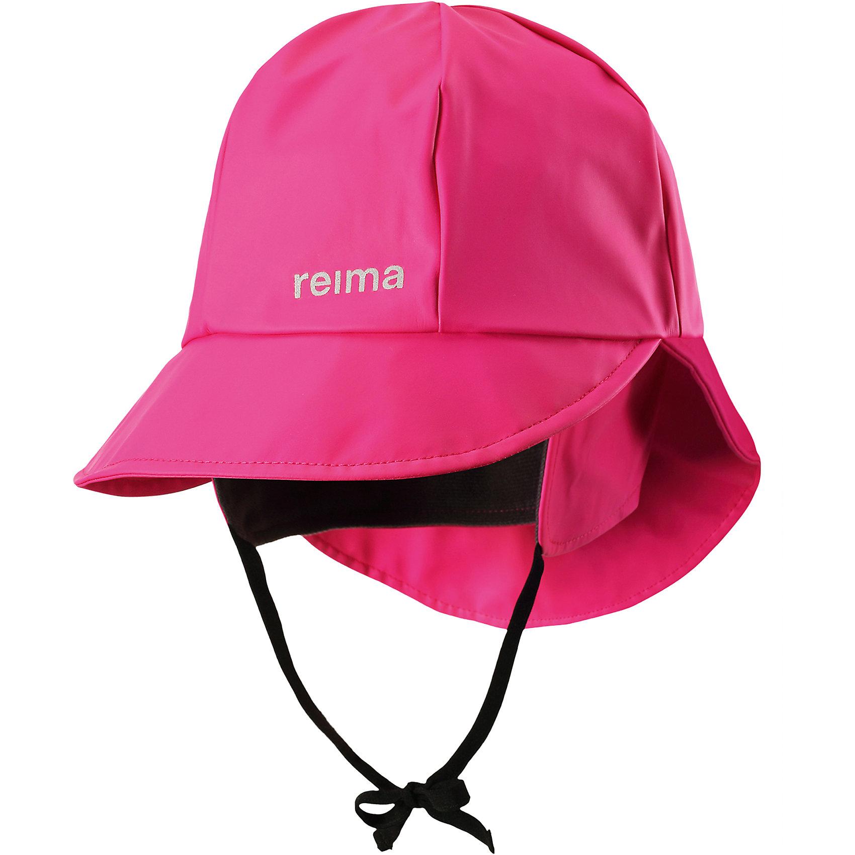 Непромокаемая шапка Rainy для девочки ReimaШапки и шарфы<br>Характеристики товара:<br><br>• цвет: розовый<br>• шапка-дождевик<br>• непромокаемая<br>• состав: 100% полиэстер, полиуретановое покрытие<br>• эластичный материал<br>• швы запаяны<br>• без подкладки<br>• защита ушей от ветра<br>• принт с логотипом<br>• комфортная посадка<br>• страна производства: Китай<br>• страна бренда: Финляндия<br>• коллекция: весна-лето 2017<br><br>Детский головной убор может быть модным и удобным одновременно! Стильная шапка поможет обеспечить ребенку комфорт и дополнить наряд. Она отлично смотрится с различной одеждой. Шапка удобно сидит и аккуратно выглядит. Проста в уходе, долго служит. Стильный дизайн разрабатывался специально для детей. Отличная защита от дождя и ветра!<br><br>Одежда и обувь от финского бренда Reima пользуется популярностью во многих странах. Эти изделия стильные, качественные и удобные. Для производства продукции используются только безопасные, проверенные материалы и фурнитура. Порадуйте ребенка модными и красивыми вещами от Reima! <br><br>Шапку для мальчика от финского бренда Reima (Рейма) можно купить в нашем интернет-магазине.<br><br>Ширина мм: 89<br>Глубина мм: 117<br>Высота мм: 44<br>Вес г: 155<br>Цвет: розовый<br>Возраст от месяцев: 6<br>Возраст до месяцев: 9<br>Пол: Женский<br>Возраст: Детский<br>Размер: 46,56,48,50,52,54<br>SKU: 5267992