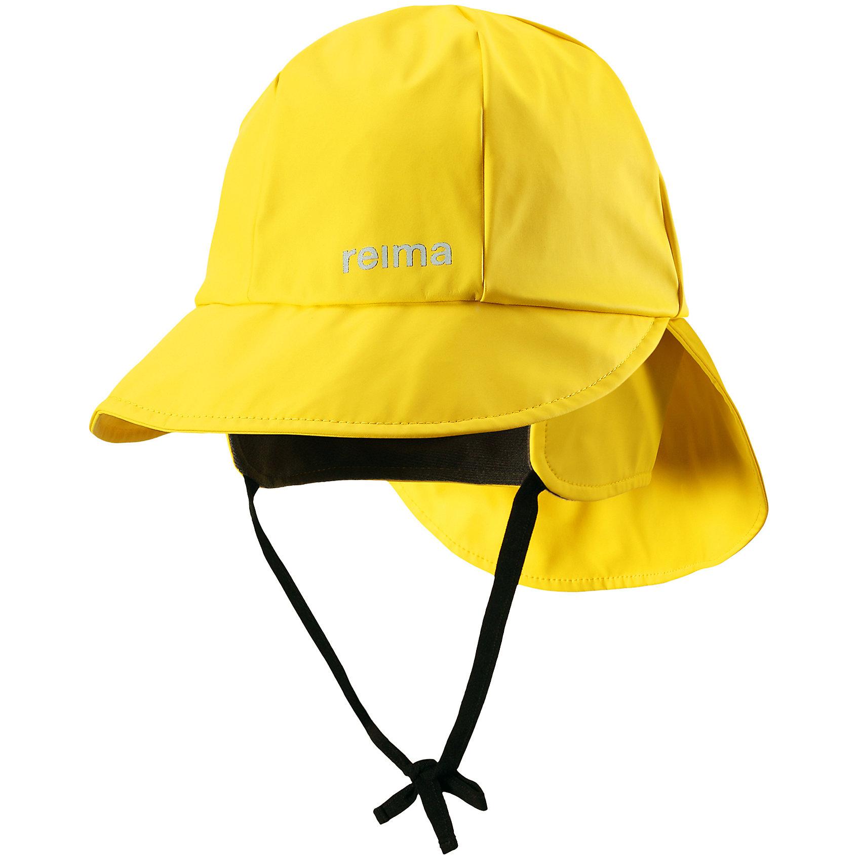 Непромокаемая шапка Rainy ReimaШапки и шарфы<br>Характеристики товара:<br><br>• цвет: желтый<br>• шапка-дождевик<br>• непромокаемая<br>• состав: 100% полиэстер, полиуретановое покрытие<br>• эластичный материал<br>• швы запаяны<br>• без подкладки<br>• защита ушей от ветра<br>• принт с логотипом<br>• комфортная посадка<br>• страна производства: Китай<br>• страна бренда: Финляндия<br>• коллекция: весна-лето 2017<br><br>Детский головной убор может быть модным и удобным одновременно! Стильная шапка поможет обеспечить ребенку комфорт и дополнить наряд. Она отлично смотрится с различной одеждой. Шапка удобно сидит и аккуратно выглядит. Проста в уходе, долго служит. Стильный дизайн разрабатывался специально для детей. Отличная защита от дождя и ветра!<br><br>Одежда и обувь от финского бренда Reima пользуется популярностью во многих странах. Эти изделия стильные, качественные и удобные. Для производства продукции используются только безопасные, проверенные материалы и фурнитура. Порадуйте ребенка модными и красивыми вещами от Reima! <br><br>Шапку для мальчика от финского бренда Reima (Рейма) можно купить в нашем интернет-магазине.<br><br>Ширина мм: 89<br>Глубина мм: 117<br>Высота мм: 44<br>Вес г: 155<br>Цвет: желтый<br>Возраст от месяцев: 6<br>Возраст до месяцев: 9<br>Пол: Унисекс<br>Возраст: Детский<br>Размер: 46,56,50,48,52,54<br>SKU: 5267999