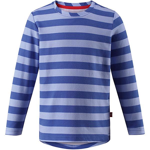 Футболка с длинным рукавом Kuper ReimaОдежда<br>Характеристики товара:<br><br>• цвет: голубой<br>• состав: 65% Хлопок, 30% полиэстер, 5% эластан<br>• быстросохнущий, очень приятный материал Play Jersey<br>• приятная на ощупь хлопковая поверхность<br>• влагоотводящая изнаночная сторона<br>• фактор защиты от ультрафиолета 40+<br>• удлинённая спинка<br>• страна бренда: Финляндия<br>• страна производства: Китай<br><br>Одежда может быть модной и комфортной одновременно! Удобная симпатичная футболка поможет обеспечить ребенку комфорт - она не стесняет движения и удобно сидит. Модель стильно смотрится. Стильный дизайн разрабатывался специально для детей.<br><br>Уход:<br><br>• стирать и гладить, вывернув наизнанку<br>• стирать с бельем одинакового цвета<br>• стирать моющим средством, не содержащим отбеливающие вещества<br>• полоскать без специального средства<br>• придать первоначальную форму вo влажном виде.<br><br>Футболку от финского бренда Reima (Рейма) можно купить в нашем интернет-магазине.<br><br>Ширина мм: 199<br>Глубина мм: 10<br>Высота мм: 161<br>Вес г: 151<br>Цвет: синий<br>Возраст от месяцев: 72<br>Возраст до месяцев: 84<br>Пол: Унисекс<br>Возраст: Детский<br>Размер: 122,92,140,134,128,116,110,104,98<br>SKU: 5268106
