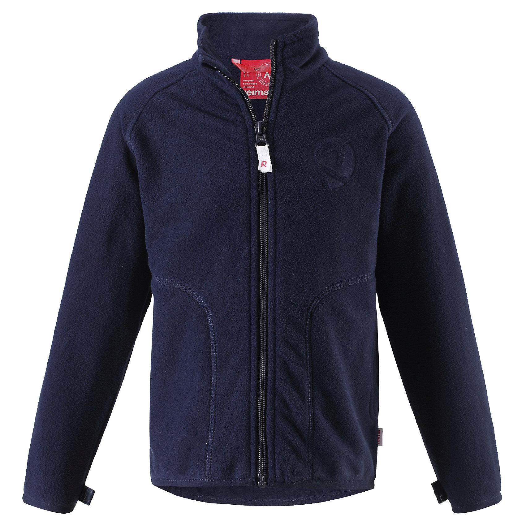 Куртка флисовая для мальчика ReimaКуртка флисовая для мальчика от финского бренда Reima.<br>Флисовая куртка для детей. Теплый, легкий и быстросохнущий поларфлис. Может пристегиваться к верхней одежде Reima® кнопками Play Layers®. Эластичные манжеты и подол. Удлиненный подол сзади для дополнительной защиты. Молния по всей длине с защитой подбородка. Два боковых кармана. Аппликация.<br>Состав:<br>100% Полиэстер<br><br><br>Уход:<br>Стирать с бельем одинакового цвета, вывернув наизнанку. Застегнуть молнии. Стирать моющим средством, не содержащим отбеливающие вещества. Полоскать без специального средства. Сушить при низкой температуре.<br><br>Ширина мм: 356<br>Глубина мм: 10<br>Высота мм: 245<br>Вес г: 519<br>Цвет: синий<br>Возраст от месяцев: 96<br>Возраст до месяцев: 108<br>Пол: Мужской<br>Возраст: Детский<br>Размер: 134,122,110,128,116,92,140,98,104<br>SKU: 5268116
