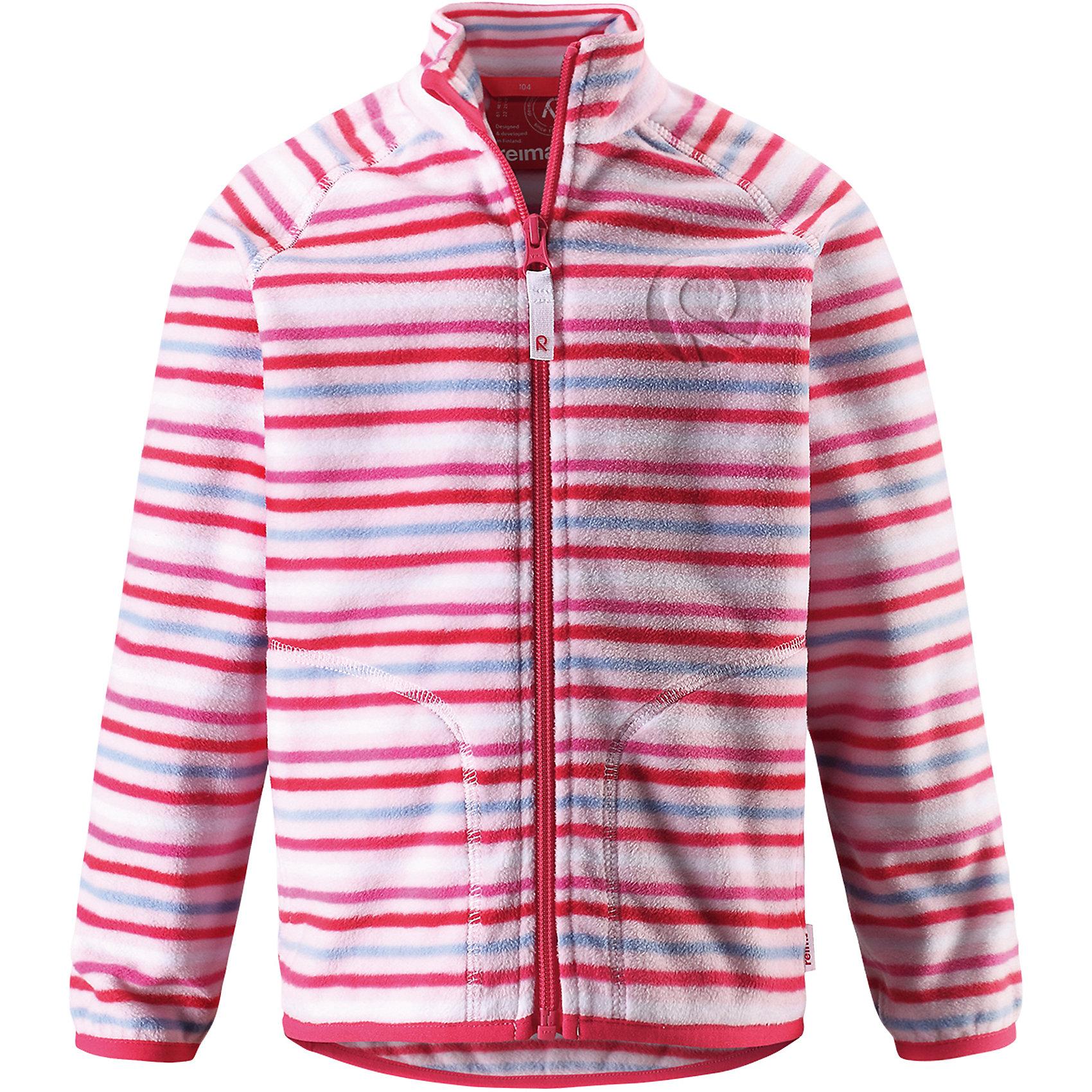 Куртка флисовая Inrun для девочки ReimaОдежда<br>Характеристики товара:<br><br>• цвет: розовый<br>• состав: 100% полиэстер<br>• поларфлис<br>• аппликация<br>• молния<br>• защита подбородка<br>• приятная на ощупь ткань<br>• карманы<br>• может пристегиваться к верхней одежде Reima® кнопками Play Layers®<br>• эластичные манжеты и подол<br>• удлиненная сзади<br>• комфортная посадка<br>• страна производства: Китай<br>• страна бренда: Финляндия<br>• коллекция: весна-лето 2017<br><br>Одежда для детей может быть модной и комфортной одновременно! Удобная курточка поможет обеспечить ребенку комфорт и тепло. Изделие сшито из поларфлис - мягкого и теплого материала, приятного на ощупь. Модель стильно смотрится, отлично сочетается с различным низом. Стильный дизайн разрабатывался специально для детей.<br><br>Одежда и обувь от финского бренда Reima пользуется популярностью во многих странах. Эти изделия стильные, качественные и удобные. Для производства продукции используются только безопасные, проверенные материалы и фурнитура. Порадуйте ребенка модными и красивыми вещами от Reima! <br><br>Куртку флисовую для мальчика от финского бренда Reima (Рейма) можно купить в нашем интернет-магазине.<br><br>Ширина мм: 356<br>Глубина мм: 10<br>Высота мм: 245<br>Вес г: 519<br>Цвет: розовый<br>Возраст от месяцев: 96<br>Возраст до месяцев: 108<br>Пол: Женский<br>Возраст: Детский<br>Размер: 134,140,92,98,104,110,116,122,128<br>SKU: 5268146