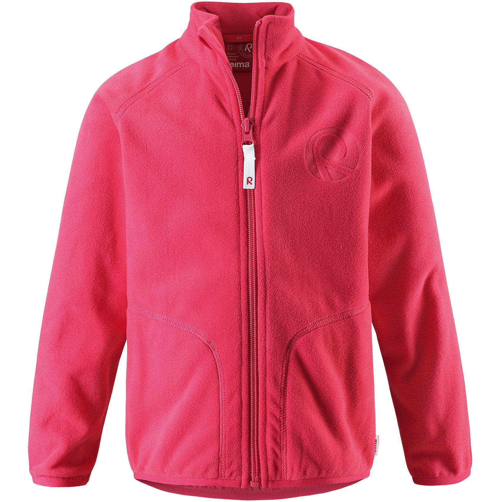 Куртка флисовая Inrun для девочки ReimaФлис и термобелье<br>Характеристики товара:<br><br>• цвет: розовый<br>• состав: 100% полиэстер<br>• поларфлис<br>• аппликация<br>• молния<br>• защита подбородка<br>• приятная на ощупь ткань<br>• карманы<br>• может пристегиваться к верхней одежде Reima® кнопками Play Layers®<br>• эластичные манжеты и подол<br>• удлиненная сзади<br>• комфортная посадка<br>• страна производства: Китай<br>• страна бренда: Финляндия<br>• коллекция: весна-лето 2017<br><br>Одежда для детей может быть модной и комфортной одновременно! Удобная курточка поможет обеспечить ребенку комфорт и тепло. Изделие сшито из поларфлис - мягкого и теплого материала, приятного на ощупь. Модель стильно смотрится, отлично сочетается с различным низом. Стильный дизайн разрабатывался специально для детей.<br><br>Одежда и обувь от финского бренда Reima пользуется популярностью во многих странах. Эти изделия стильные, качественные и удобные. Для производства продукции используются только безопасные, проверенные материалы и фурнитура. Порадуйте ребенка модными и красивыми вещами от Reima! <br><br>Куртку флисовую для мальчика от финского бренда Reima (Рейма) можно купить в нашем интернет-магазине.<br><br>Ширина мм: 356<br>Глубина мм: 10<br>Высота мм: 245<br>Вес г: 519<br>Цвет: розовый<br>Возраст от месяцев: 18<br>Возраст до месяцев: 24<br>Пол: Женский<br>Возраст: Детский<br>Размер: 92,134,140,128,122,116,110,104,98<br>SKU: 5268156