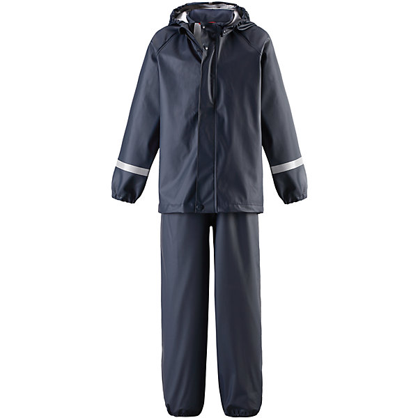 Непромокаемый комплект Viima: куртка и брюки для мальчика ReimaОдежда<br>Характеристики товара:<br><br>• цвет: синий<br>• состав: 100% полиэстер, полиуретановое покрытие<br>• температурный режим: от +10°до +20°С<br>• водонепроницаемость: 10000 мм<br>• без утеплителя<br>• комплектация: куртка, штаны<br>• эластичный материал<br>• водонепроницаемый материал с запаянными швами<br>• не содержит ПВХ<br>• безопасный съемный капюшон<br>• эластичные манжеты <br>• обхват талии эластичный<br>• эластичные манжеты на брючинах<br>• комфортная посадка<br>• съемные штрипки в размерах от 104 до 128 см<br>• молния спереди<br>• светоотражающие детали<br>• страна производства: Китай<br>• страна бренда: Финляндия<br>• коллекция: весна-лето 2017<br><br>Демисезонный комплект из куртки и штанов поможет обеспечить ребенку комфорт и тепло. Предметы отлично смотрятся с различной одеждой. Комплект удобно сидит и модно выглядит. Материал отлично подходит для дождливой погоды. Стильный дизайн разрабатывался специально для детей.<br><br>Обувь и одежда от финского бренда Reima пользуются популярностью во многих странах. Они стильные, качественные и удобные. Для производства продукции используются только безопасные, проверенные материалы и фурнитура. Порадуйте ребенка модными и красивыми вещами от Lassie®! <br><br>Комплект: куртка и брюки для мальчика от финского бренда Reima (Рейма) можно купить в нашем интернет-магазине.<br><br>Ширина мм: 356<br>Глубина мм: 10<br>Высота мм: 245<br>Вес г: 519<br>Цвет: синий<br>Возраст от месяцев: 60<br>Возраст до месяцев: 72<br>Пол: Мужской<br>Возраст: Детский<br>Размер: 116,140,122,128,134<br>SKU: 5268216