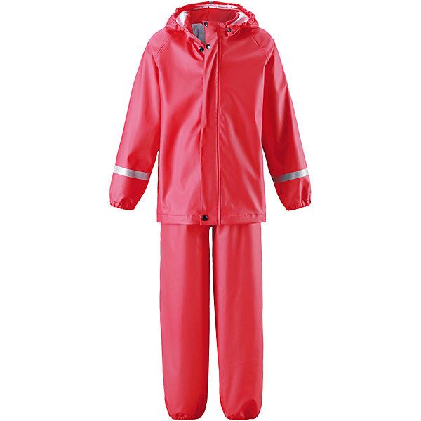 Непромокаемый комплект Viima: куртка и брюки для девочки ReimaОдежда<br>Характеристики товара:<br><br>• цвет: красный<br>• состав: 100% полиэстер, полиуретановое покрытие<br>• температурный режим: от +10°до +20°С<br>• водонепроницаемость: 10000 мм<br>• без утеплителя<br>• комплектация: куртка, штаны<br>• эластичный материал<br>• водонепроницаемый материал с запаянными швами<br>• не содержит ПВХ<br>• безопасный съемный капюшон<br>• эластичные манжеты <br>• обхват талии эластичный<br>• эластичные манжеты на брючинах<br>• комфортная посадка<br>• съемные штрипки в размерах от 104 до 128 см<br>• молния спереди<br>• светоотражающие детали<br>• страна производства: Китай<br>• страна бренда: Финляндия<br>• коллекция: весна-лето 2017<br><br>Демисезонный комплект из куртки и штанов поможет обеспечить ребенку комфорт и тепло. Предметы отлично смотрятся с различной одеждой. Комплект удобно сидит и модно выглядит. Материал отлично подходит для дождливой погоды. Стильный дизайн разрабатывался специально для детей.<br><br>Обувь и одежда от финского бренда Reima пользуются популярностью во многих странах. Они стильные, качественные и удобные. Для производства продукции используются только безопасные, проверенные материалы и фурнитура. Порадуйте ребенка модными и красивыми вещами от Lassie®! <br><br>Комплект: куртка и брюки для мальчика от финского бренда Reima (Рейма) можно купить в нашем интернет-магазине.<br>Ширина мм: 356; Глубина мм: 10; Высота мм: 245; Вес г: 519; Цвет: красный; Возраст от месяцев: 60; Возраст до месяцев: 72; Пол: Женский; Возраст: Детский; Размер: 116,140,134,128,122; SKU: 5268222;