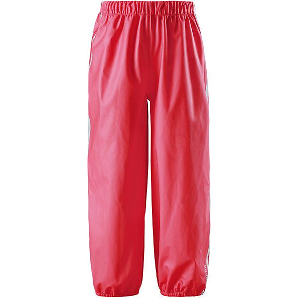 Непромокаемые брюки Oja для девочки  ReimaОдежда<br>Характеристики товара:<br><br>• цвет: красный<br>• состав: 100% полиэстер, полиуретановое покрытие<br>• температурный режим: от +10°до +20°С<br>• водонепроницаемость: 10000 мм<br>• без утеплителя<br>• эластичный материал<br>• водонепроницаемый материал с запаянными швами<br>• не содержит ПВХ<br>• эластичная талия<br>• эластичные манжеты на брючинах<br>• комфортная посадка<br>• съемные штрипки в размерах от 104 до 128 см<br>• светоотражающие детали<br>• страна производства: Китай<br>• страна бренда: Финляндия<br>• коллекция: весна-лето 2017<br><br>Демисезонные брюки помогут обеспечить ребенку комфорт и тепло. Они отлично смотрятся с различным верхом. Изделие удобно сидит и модно выглядит. Материал отлично подходит для дождливой погоды. Стильный дизайн разрабатывался специально для детей.<br><br>Обувь и одежда от финского бренда Reima пользуются популярностью во многих странах. Они стильные, качественные и удобные. Для производства продукции используются только безопасные, проверенные материалы и фурнитура. Порадуйте ребенка модными и красивыми вещами от Lassie®! <br><br>Брюки от финского бренда Reima (Рейма) можно купить в нашем интернет-магазине.<br>Ширина мм: 215; Глубина мм: 88; Высота мм: 191; Вес г: 336; Цвет: красный; Возраст от месяцев: 72; Возраст до месяцев: 84; Пол: Женский; Возраст: Детский; Размер: 122,140,134,128,116,110,104; SKU: 5268242;