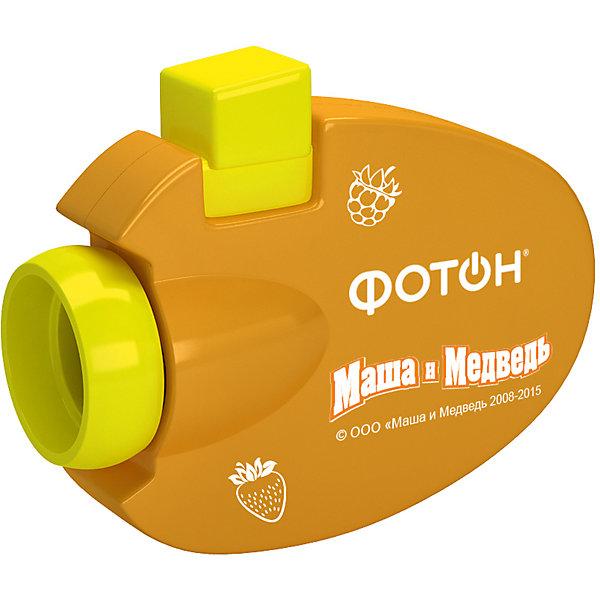 Мультфонарик-проектор Маша и Медведь, оранжевый, ФотонМаша и Медведь<br>Мультфонарик-проектор Маша и Медведь, оранжевый, Фотон.<br><br>Характеристика:<br><br>• Материал: пластик, металл.<br>• Размер упаковки: 18 см?11,7 см?2,5 см.<br>• Проецирует картинку на расстоянии: 0,3-3 м. <br>• Источник света: 1 светодиод. <br>• Элемент питания: 3 батарейки 1,5V типа AG3/LR41 (в комплекте демонстрационные). <br>• 26 изображений. <br>• Яркий привлекательный дизайн.<br><br>Фонарик - проектор Маша и Медведь приведет в восторг любого ребенка! Нажав на кнопку на корпусе, малыши увидят приключения любимых героев. Фонарик небольшого размера легко поместится с сумке или кармане, а значит, любимые герои и захватывающие истории смогут быть рядом всегда и везде. Изображения можно спроецировать на любую ровную поверхность. Фонарик выполнен из высококачественного прочного пластика, работает от батареек. <br><br>Мультфонарик-проектор Маша и Медведь, оранжевый, Фотон, можно купить в нашем интернет-магазине.<br><br>Ширина мм: 180<br>Глубина мм: 120<br>Высота мм: 28<br>Вес г: 92<br>Возраст от месяцев: 24<br>Возраст до месяцев: 120<br>Пол: Унисекс<br>Возраст: Детский<br>SKU: 5268923