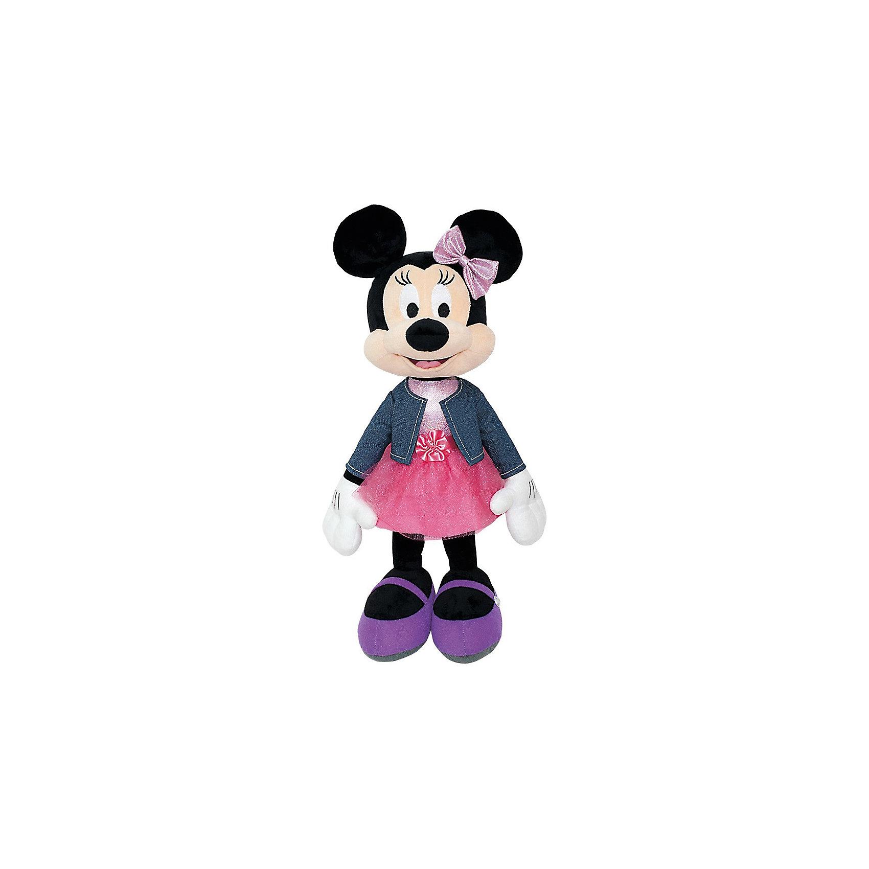 Мягкая игрушка Минни Маус, Dream makersЛюбимые герои<br>Характеристики:<br><br>• высота игрушки: 35 см;<br>• особенности: звуковые эффекты;<br>• материал: плюш, текстиль, синтетический наполнитель. <br><br>Мягкая мышка Минни Маус говорит фразы из мультфильма. Улыбчивая героиня Дисней одета в джинсовый жакет и пышную юбочку. С мышкой можно играть и даже «общаться».<br><br>Мягкую игрушку Минни Маус, Dream makers можно купить в нашем магазине.<br><br>Ширина мм: 230<br>Глубина мм: 230<br>Высота мм: 350<br>Вес г: 420<br>Возраст от месяцев: 36<br>Возраст до месяцев: 2147483647<br>Пол: Женский<br>Возраст: Детский<br>SKU: 5268985