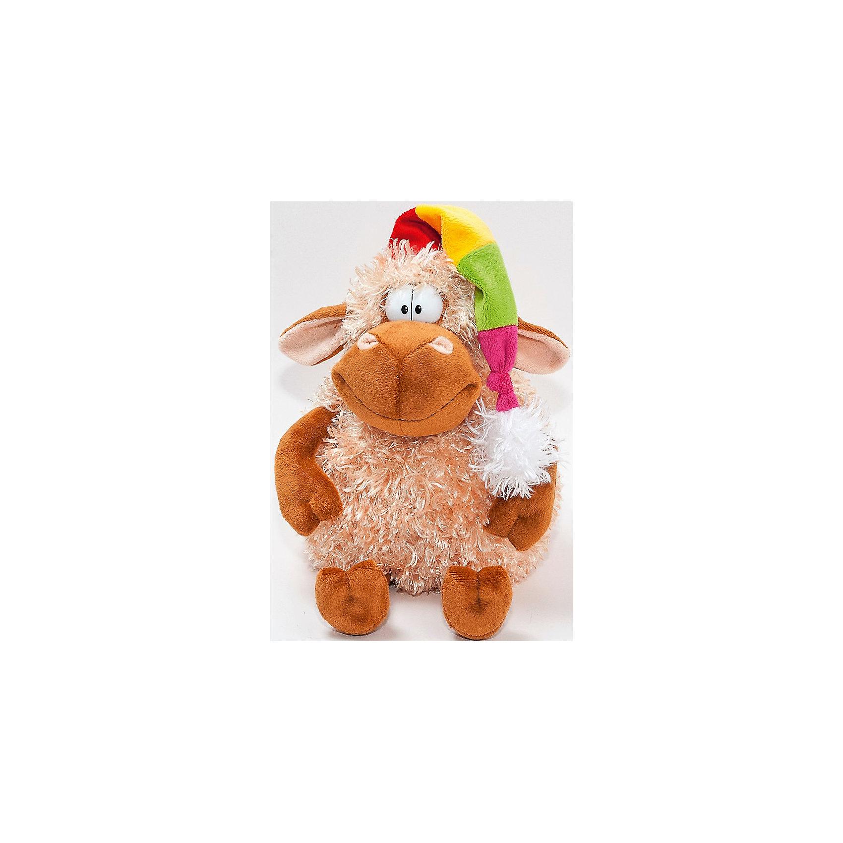 Мягкая игрушка Барашек Голди, FancyЗвери и птицы<br>Характеристики:<br><br>• высота игрушки: 22 см;<br>• тип игрушки: мягконабивная;<br>• материал: текстиль, синтетический наполнитель. <br><br>Мягкая игрушка барашек Голди в ярком колпачке находится в положении «сидя». Барашек мягконабивной, приятный на ощупь, изготовлен из качественных материалов. Улыбчивая мордашка барашка вызывает умиление. <br><br>Мягкую игрушку Барашек Голди, Fancy можно купить в нашем магазине.<br><br>Ширина мм: 180<br>Глубина мм: 210<br>Высота мм: 220<br>Вес г: 165<br>Возраст от месяцев: 36<br>Возраст до месяцев: 2147483647<br>Пол: Унисекс<br>Возраст: Детский<br>SKU: 5268992