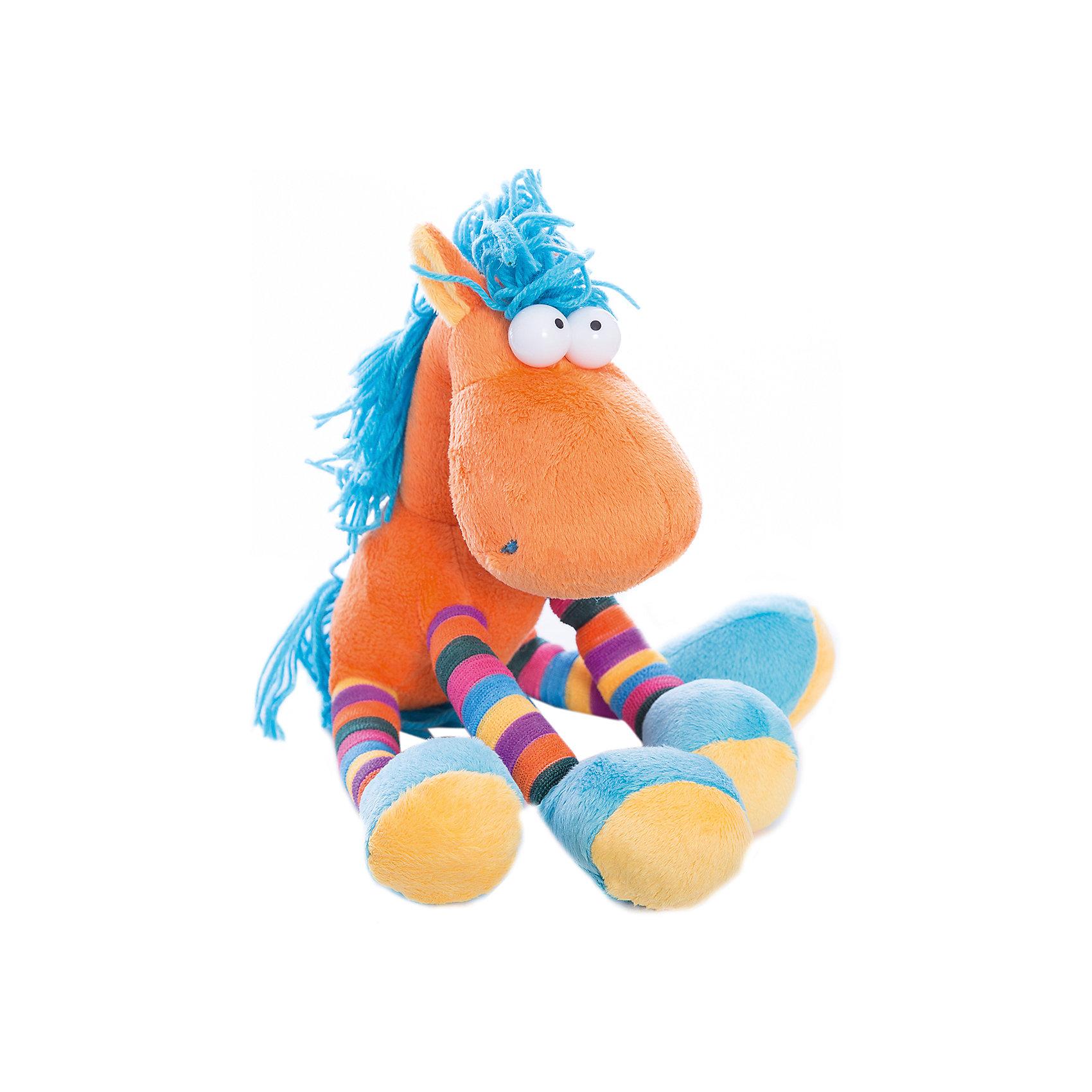 Мягкая игрушка Конь - Миг, FancyМягкие игрушки животные<br>Характеристики:<br><br>• высота игрушки: 29 см;<br>• тип игрушки: мягконабивная;<br>• материал: плюш, синтетический наполнитель. <br><br>Очень смешной и яркий конь Миг с полосатыми копытцами окрашен в жизнерадостные цвета. Радужный конь мягкий на ощупь, его грива и хвостик изготовлены из ниток. Для изготовления мягких игрушек Fancy используются высококачественные гипоаллергенные материалы. <br><br>Мягкую игрушку Конь - Миг, Fancy можно купить в нашем магазине.<br><br>Ширина мм: 220<br>Глубина мм: 100<br>Высота мм: 290<br>Вес г: 118<br>Возраст от месяцев: 36<br>Возраст до месяцев: 2147483647<br>Пол: Унисекс<br>Возраст: Детский<br>SKU: 5268997