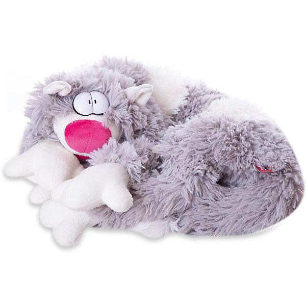 Мягкая игрушка Кот Бекон, FancyМягкие игрушки животные<br>Характеристики:<br><br>• длина игрушки: 80 см;<br>• тип игрушки: мягконабивная;<br>• материал: плюш, синтетический наполнитель. <br><br>Причудливый кот с выпученными глазами так и норовит приобнять хозяина. Пушистое существо длиной 80 см может стать шарфом, подушкой или ковриком. Котяра Бекон даже выпускает коготки, когда с ним забывают поиграть. <br><br>Мягкую игрушку Кот Бекон, Fancy можно купить в нашем магазине.<br><br>Ширина мм: 200<br>Глубина мм: 220<br>Высота мм: 800<br>Вес г: 410<br>Возраст от месяцев: 36<br>Возраст до месяцев: 2147483647<br>Пол: Унисекс<br>Возраст: Детский<br>SKU: 5268998