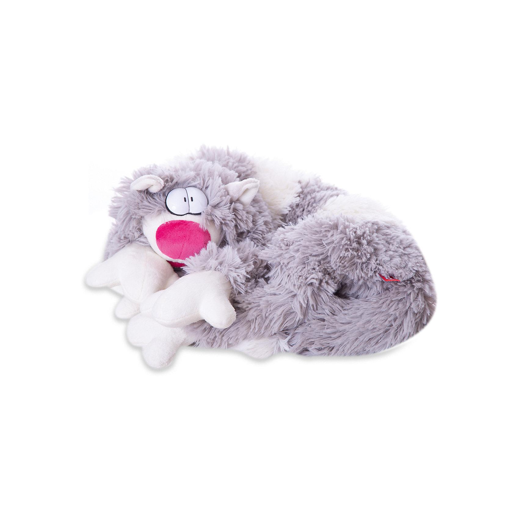 Мягкая игрушка Кот Бекон, FancyКошки и собаки<br>Характеристики:<br><br>• длина игрушки: 80 см;<br>• тип игрушки: мягконабивная;<br>• материал: плюш, синтетический наполнитель. <br><br>Причудливый кот с выпученными глазами так и норовит приобнять хозяина. Пушистое существо длиной 80 см может стать шарфом, подушкой или ковриком. Котяра Бекон даже выпускает коготки, когда с ним забывают поиграть. <br><br>Мягкую игрушку Кот Бекон, Fancy можно купить в нашем магазине.<br><br>Ширина мм: 200<br>Глубина мм: 220<br>Высота мм: 800<br>Вес г: 410<br>Возраст от месяцев: 36<br>Возраст до месяцев: 2147483647<br>Пол: Унисекс<br>Возраст: Детский<br>SKU: 5268998
