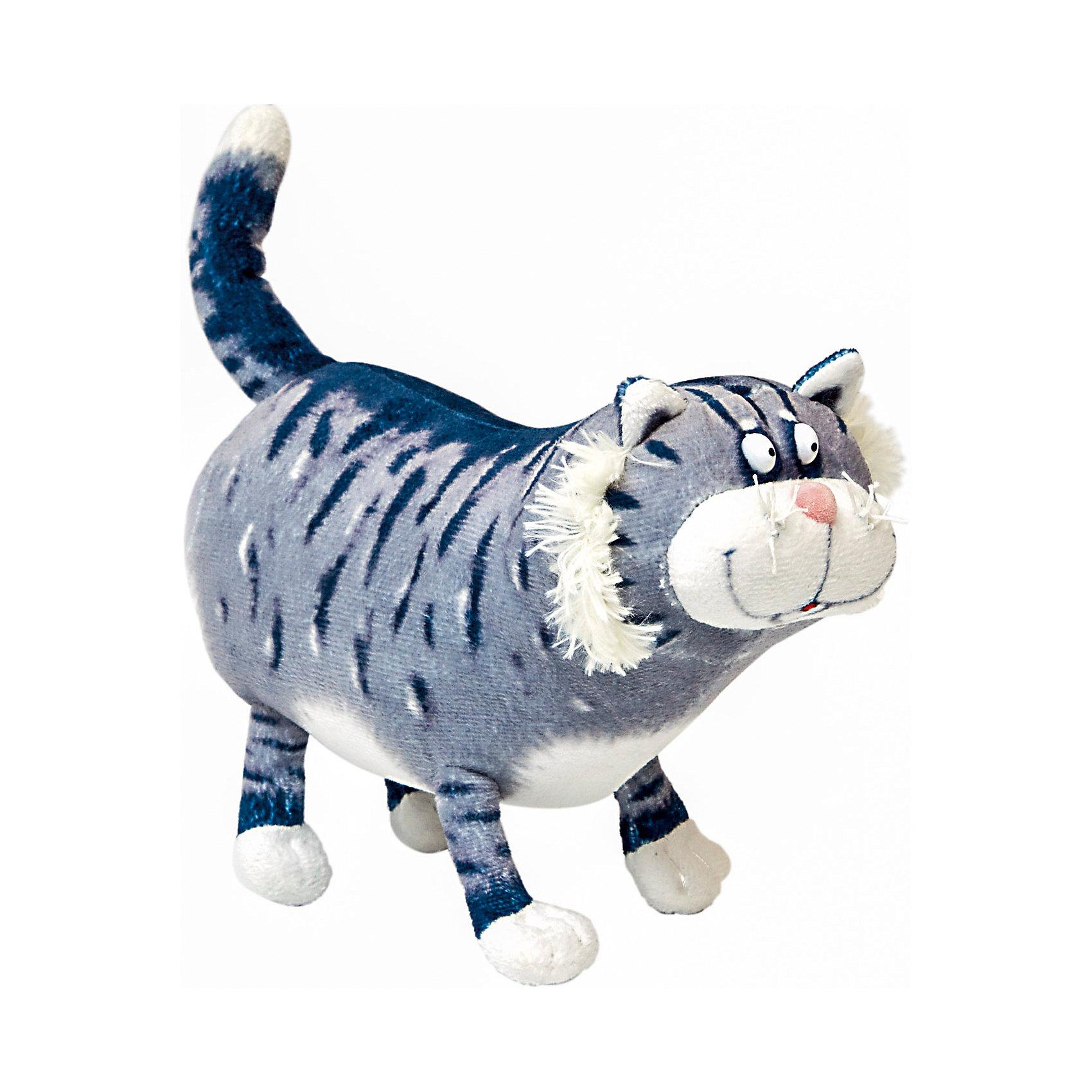 Мягкая игрушка Котик Кузя, FancyХарактеристики:<br><br>• высота игрушки: 18 см;<br>• тип игрушки: мягконабивная;<br>• материал: плюш, текстиль, синтетический наполнитель. <br><br>Упитанный кот Кузя ищет своего хозяина. Деловой котик с причудливой мордашкой только и думает о том, как бы «стащить» сосиску. Такого котика надо держать под присмотром – заказывайте питомца в магазине и готовьте угощения для прожорливого домашнего зверька. <br><br>Мягкую игрушку Котик Кузя, Fancy можно купить в нашем магазине.<br><br>Ширина мм: 190<br>Глубина мм: 90<br>Высота мм: 150<br>Вес г: 120<br>Возраст от месяцев: 36<br>Возраст до месяцев: 2147483647<br>Пол: Унисекс<br>Возраст: Детский<br>SKU: 5268999