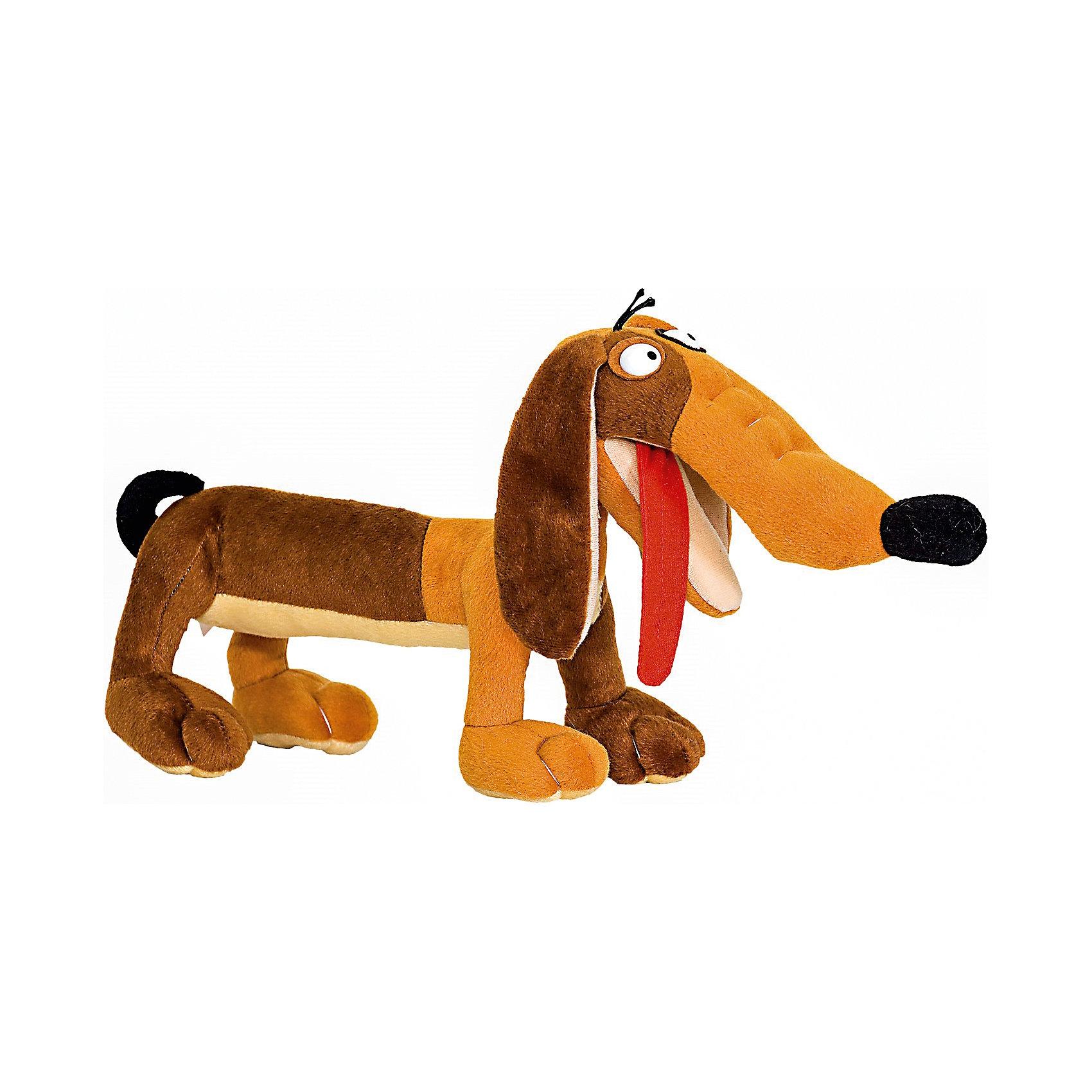 Мягкая игрушка Собака такса, FancyКошки и собаки<br>Характеристики:<br><br>• высота игрушки: 44 см;<br>• тип игрушки: мягконабивная;<br>• материал: текстиль, синтетический наполнитель. <br><br>Длинная такса на коротких лапках любит прогулки. Мягкая игрушка Такса с высунутым языком поднимает настроение, собаку можно использовать как подушечку под голову – напоминает валик. Игрушки Fancy изготовлены из гипоаллергенных материалов. <br><br>Мягкую игрушку Собака такса, Fancy можно купить в нашем магазине.<br><br>Ширина мм: 440<br>Глубина мм: 150<br>Высота мм: 210<br>Вес г: 270<br>Возраст от месяцев: 36<br>Возраст до месяцев: 2147483647<br>Пол: Унисекс<br>Возраст: Детский<br>SKU: 5269001