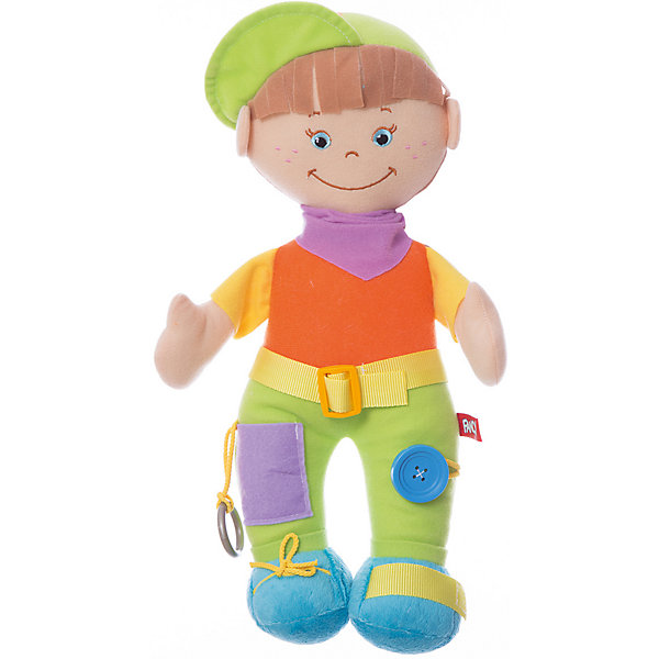 Мягкая игрушка Кнопик, FancyМягкие игрушки животные<br>Характеристики:<br><br>• высота игрушки: 39 см;<br>• тип игрушки: развивающая кукла;<br>• материал: текстиль, синтетический наполнитель. <br><br>Развивающую куклу Кнопик полюбят детки, которые с ее помощью научатся завязывать шнурки, застегивать пуговицы, расстегивать липучки. Комбинирование разнофактурных материалов помогает развить мелкую моторику. В процессе игры ребенок осваивает методику самостоятельности. <br><br>Мягкую игрушку Кнопик, Fancy можно купить в нашем магазине.<br>Ширина мм: 100; Глубина мм: 150; Высота мм: 350; Вес г: 190; Возраст от месяцев: 36; Возраст до месяцев: 2147483647; Пол: Унисекс; Возраст: Детский; SKU: 5269002;
