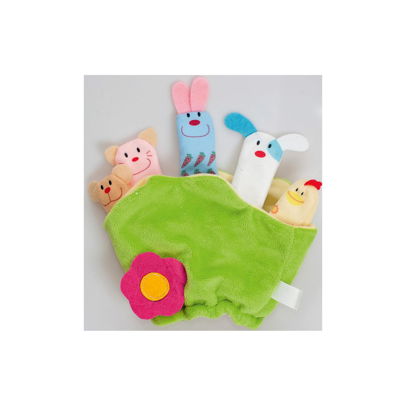 Мягкая игрушка Полянка, FancyЗвери и птицы<br>Характеристики:<br><br>• размер полянки: 25х21 см;<br>• количество игрушек: 5 шт.;<br>• тип игрушки: мягконабивная;<br>• материал: текстиль, синтетический наполнитель. <br><br>Кукольный театр с плюшевыми игрушками – полезное развлечение для малыша. На полянке устроились 5 персонажей, которые будут участвовать в спектакле. Малыш может сам надевать игрушки на пальчики, или мама будет показывать спектакль – это зависит от возраста крохи. <br><br>Мягкую игрушку Полянка, Fancy можно купить в нашем магазине.<br><br>Ширина мм: 30<br>Глубина мм: 210<br>Высота мм: 248<br>Вес г: 110<br>Возраст от месяцев: 36<br>Возраст до месяцев: 2147483647<br>Пол: Унисекс<br>Возраст: Детский<br>SKU: 5269003