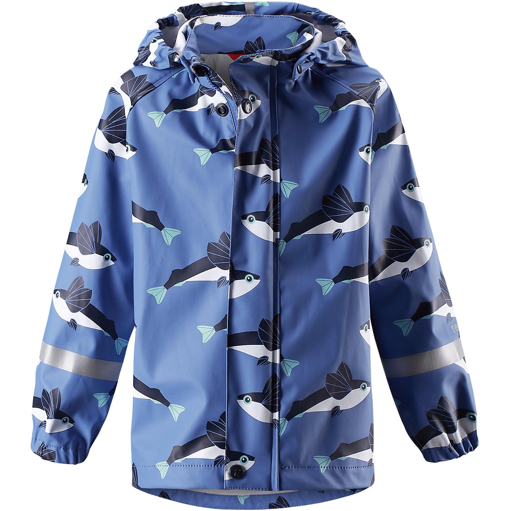 Плащ для мальчика ReimaПлащ для мальчика от финского бренда Reima.<br>Куртка-дождевик для детей. Запаянные швы, не пропускающие влагу. Эластичный материал. Без ПХВ. Может пристегиваться к слоям Reima® кнопками Play Layers®. Безопасный, съемный капюшон. Эластичные манжеты. Молния спереди.<br>Состав:<br>100% Полиэстер, полиуретановое покрытие<br><br>Уход:<br>Стирать по отдельности, вывернув наизнанку. Застегнуть молнии и липучки. Стирать моющим средством, не содержащим отбеливающие вещества. Полоскать без специального средства. Во избежание изменения цвета изделие необходимо вынуть из стиральной машинки незамедлительно после окончания программы стирки. Сушить при низкой температуре.<br><br>Ширина мм: 356<br>Глубина мм: 10<br>Высота мм: 245<br>Вес г: 519<br>Цвет: синий<br>Возраст от месяцев: 60<br>Возраст до месяцев: 72<br>Пол: Мужской<br>Возраст: Детский<br>Размер: 116,128,104,86,92,98,110,140,134,122<br>SKU: 5270432