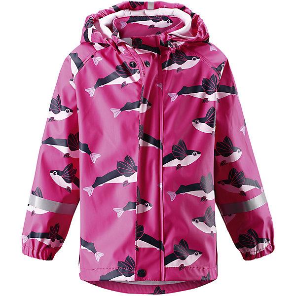 Плащ-дождевик Vesi для девочки ReimaОдежда<br>Характеристики товара:<br><br>• цвет: розовый<br>• состав: 100% полиэстер, полиуретановое покрытие<br>• температурный режим: от +10° до +20°С<br>• водонепроницаемость: 10000 мм<br>• без утеплителя<br>• водонепроницаемый материал с запаянными швами<br>• эластичный материал<br>• можно пристёгивать промежуточные слои Reima® с помощью кнопок Play Layers®<br>• не содержит ПВХ<br>• безопасный съёмный капюшон<br>• спереди застегивается на молнию<br>• эластичные манжеты<br>• светоотражающие детали<br>• комфортная посадка<br>• страна производства: Китай<br>• страна бренда: Финляндия<br>• коллекция: весна-лето 2017<br><br>Верхняя одежда для детей может быть модной и комфортной одновременно! Легкий плащ поможет обеспечить ребенку комфорт и тепло. Он отлично смотрится с различной одеждой и обувью. Изделие удобно сидит и модно выглядит. Материал - прочный, хорошо подходящий для дождливой погоды. Стильный дизайн разрабатывался специально для детей.<br><br>Одежда и обувь от финского бренда Reima пользуется популярностью во многих странах. Эти изделия стильные, качественные и удобные. Для производства продукции используются только безопасные, проверенные материалы и фурнитура. Порадуйте ребенка модными и красивыми вещами от Reima! <br><br>Плащ для мальчика от финского бренда Reima (Рейма) можно купить в нашем интернет-магазине.<br><br>Ширина мм: 356<br>Глубина мм: 10<br>Высота мм: 245<br>Вес г: 519<br>Цвет: розовый<br>Возраст от месяцев: 84<br>Возраст до месяцев: 96<br>Пол: Женский<br>Возраст: Детский<br>Размер: 104,110,128,134,86,140,122,116,92,98<br>SKU: 5270443