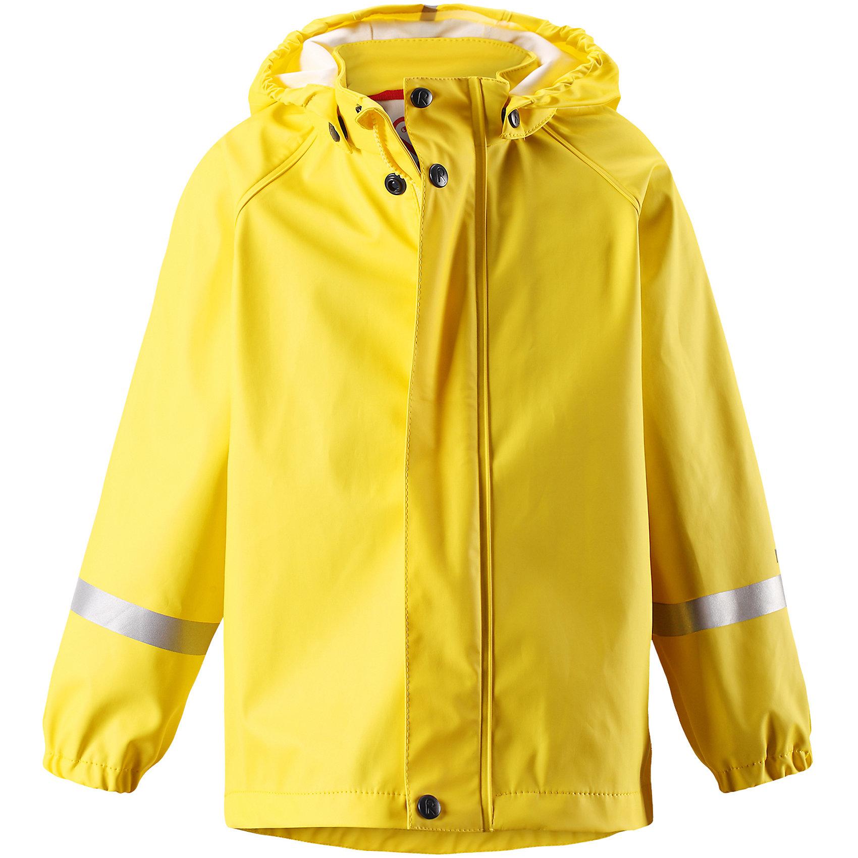 Плащ-дождевик Lampi ReimaОдежда<br>Характеристики товара:<br><br>• цвет: желтый<br>• состав: 100% полиэстер, полиуретановое покрытие<br>• водонепроницаемость: 10000 мм<br>• температурный режим: от +10° до +20°С<br>• без утеплителя<br>• водонепроницаемый материал с запаянными швами<br>• эластичный материал<br>• не сожержит ПВХ<br>• безопасный съёмный капюшон<br>• спереди застегивается на молнию<br>• светоотражающие детали<br>• эластичные манжеты<br>• комфортная посадка<br>• страна производства: Китай<br>• страна бренда: Финляндия<br>• коллекция: весна-лето 2017<br><br>Верхняя одежда для детей может быть модной и комфортной одновременно! Легкий плащ поможет обеспечить ребенку комфорт и тепло. Он отлично смотрится с различной одеждой и обувью. Изделие удобно сидит и модно выглядит. Материал - прочный, хорошо подходящий для дождливой погоды. Стильный дизайн разрабатывался специально для детей.<br><br>Одежда и обувь от финского бренда Reima пользуется популярностью во многих странах. Эти изделия стильные, качественные и удобные. Для производства продукции используются только безопасные, проверенные материалы и фурнитура. Порадуйте ребенка модными и красивыми вещами от Reima! <br><br>Плащ от финского бренда Reima (Рейма) можно купить в нашем интернет-магазине.<br><br>Ширина мм: 356<br>Глубина мм: 10<br>Высота мм: 245<br>Вес г: 519<br>Цвет: желтый<br>Возраст от месяцев: 60<br>Возраст до месяцев: 72<br>Пол: Унисекс<br>Возраст: Детский<br>Размер: 116,122,128,134,140,98,86,92,104,110<br>SKU: 5270498