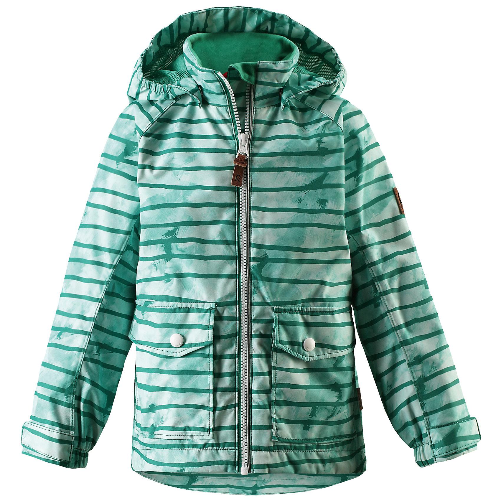 Куртка для мальчика Reimatec® ReimaКуртка  для мальчика от финского бренда Reima.<br> Куртка демисезонная для детей. Основные швы проклеены и не пропускают влагу. Водоотталкивающий, ветронепроницаемый, «дышащий» и грязеотталкивающий материал. Гладкая подкладка из полиэстра на теле, подкладка из mesh-сетки на капюшоне. Безопасный, съемный капюшон. Регулируемый манжет на липучке. Регулируемый подол. Два кармана с клапанами.<br>Состав:<br>100% Полиэстер, полиуретановая мембрана<br><br>Уход:<br>Стирать по отдельности, вывернув наизнанку. Застегнуть молнии и липучки. Стирать моющим средством, не содержащим отбеливающие вещества. Полоскать без специального средства. Во избежание изменения цвета изделие необходимо вынуть из стиральной машинки незамедлительно после окончания программы стирки. Сушить при низкой температуре.<br><br>Ширина мм: 356<br>Глубина мм: 10<br>Высота мм: 245<br>Вес г: 519<br>Цвет: зеленый<br>Возраст от месяцев: 60<br>Возраст до месяцев: 72<br>Пол: Мужской<br>Возраст: Детский<br>Размер: 116,110,104,98,152,92,146,140,134,128,122<br>SKU: 5270633