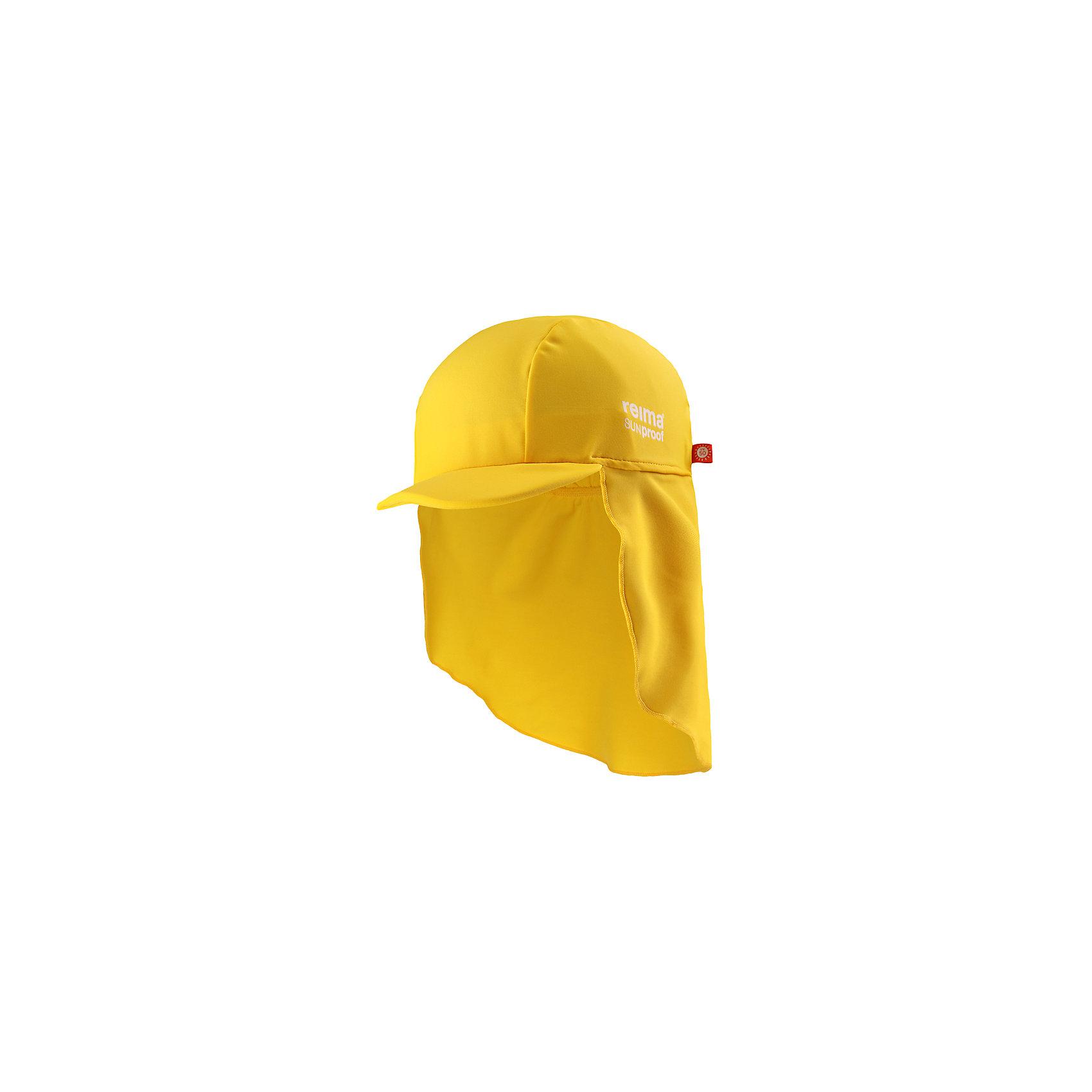 Панама ReimaШапки и шарфы<br>Характеристики товара:<br><br>• цвет: жёлтый<br>• состав: 80% полиамид, 20% эластан<br>• фактор защиты от ультрафиолета: 50+<br>• задняя часть удлиненная<br>• стильный защитный козырек<br>• защищает от солнца<br>• облегчённая модель без подкладки<br>• эмблема Reima сбоку<br>• декоративный логотип<br>• страна бренда: Финляндия<br>• страна производства: Китай<br><br>Детский головной убор может быть модным и удобным одновременно! Стильная панама поможет обеспечить ребенку комфорт и дополнить наряд.Панама удобно сидит и аккуратно выглядит. Проста в уходе, долго служит. Стильный дизайн разрабатывался специально для детей. Отличная защита от солнца!<br><br>Уход:<br><br>• cтирать по отдельности, вывернув наизнанку<br>• gолоскать без специального средства<br>• cушить при низкой температуре.<br><br>Панаму от финского бренда Reima (Рейма) можно купить в нашем интернет-магазине.<br><br>Ширина мм: 89<br>Глубина мм: 117<br>Высота мм: 44<br>Вес г: 155<br>Цвет: желтый<br>Возраст от месяцев: 48<br>Возраст до месяцев: 84<br>Пол: Унисекс<br>Возраст: Детский<br>Размер: 54,46,50<br>SKU: 5270902