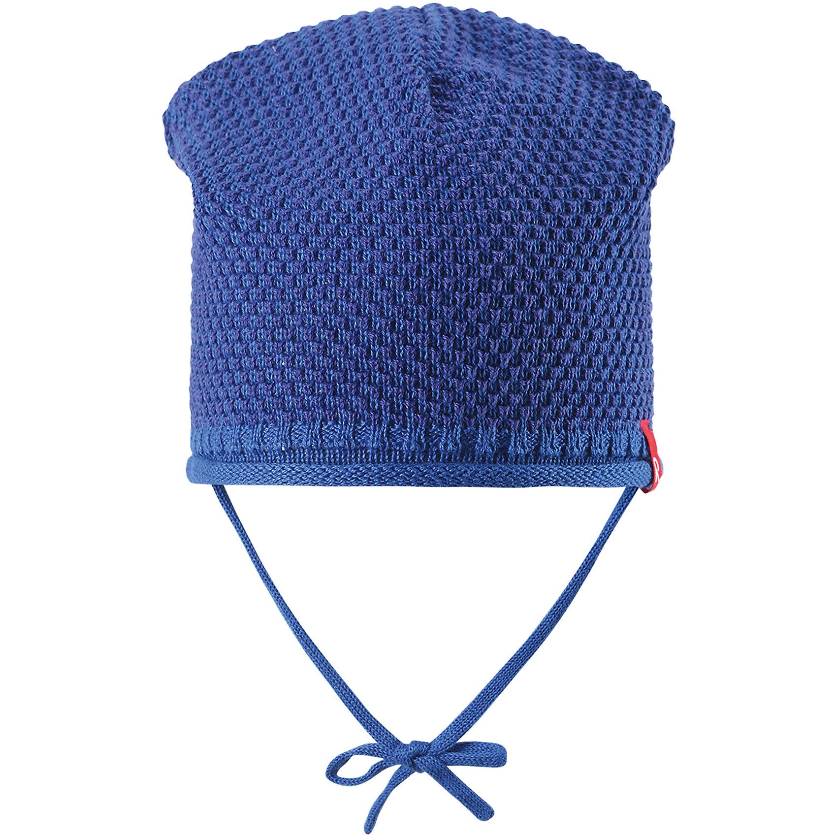 Шапка для мальчика ReimaШапки и шарфы<br>Характеристики товара:<br><br>• цвет: синий<br>• состав: 100% хлопок<br>• облегчённая модель без подкладки<br>• температурный режим: от +10С<br>• эластичный хлопковый трикотаж<br>• изделие сертифицированно по старндарту Oeko-Tex на продукцию класса 1 - одежда для новорожденных<br>• завязки во всех размерах<br>• эмблема Reima спереди<br>• декоративная структурная вязка<br>• страна бренда: Финляндия<br>• страна производства: Китай<br><br>Детский головной убор может быть модным и удобным одновременно! Стильная шапка поможет обеспечить ребенку комфорт и дополнить наряд. Шапка удобно сидит и аккуратно выглядит. Проста в уходе, долго служит. Стильный дизайн разрабатывался специально для детей. Отличная защита от дождя и ветра!<br><br>Уход:<br><br>• стирать по отдельности, вывернув наизнанку<br>• придать первоначальную форму вo влажном виде<br>• возможна усадка 5 %.<br><br>Шапку для мальчика от финского бренда Reima (Рейма) можно купить в нашем интернет-магазине.<br><br>Ширина мм: 89<br>Глубина мм: 117<br>Высота мм: 44<br>Вес г: 155<br>Цвет: синий<br>Возраст от месяцев: 24<br>Возраст до месяцев: 60<br>Пол: Мужской<br>Возраст: Детский<br>Размер: 52,46,48,50<br>SKU: 5270916