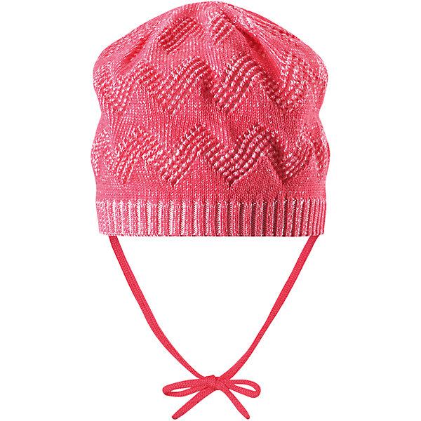 Шапка Lumme для девочки ReimaШапки и шарфы<br>Характеристики товара:<br><br>• цвет: розовый<br>• состав: 100% хлопок<br>• облегчённая модель без подкладки<br>• температурный режим: от +10С<br>• эластичный хлопковый трикотаж<br>• изделие сертифицированно по стандарту Oeko-Tex на продукцию класса 1 - одежда для новорождённых<br>• завязки во всех размерах<br>• эмблема Reima сзади<br>• ажурный узор<br>• страна бренда: Финляндия<br>• страна производства: Китай<br><br>Детский головной убор может быть модным и удобным одновременно! Стильная шапка поможет обеспечить ребенку комфорт и дополнить наряд. Шапка удобно сидит и аккуратно выглядит. Проста в уходе, долго служит. Стильный дизайн разрабатывался специально для детей. Отличная защита от дождя и ветра!<br><br>Уход:<br><br>• стирать по отдельности, вывернув наизнанку<br>• придать первоначальную форму вo влажном виде<br>• возможна усадка 5 %.<br><br>Шапку для девочки от финского бренда Reima (Рейма) можно купить в нашем интернет-магазине.<br><br>Ширина мм: 89<br>Глубина мм: 117<br>Высота мм: 44<br>Вес г: 155<br>Цвет: розовый<br>Возраст от месяцев: 9<br>Возраст до месяцев: 18<br>Пол: Женский<br>Возраст: Детский<br>Размер: 50,52,46,48<br>SKU: 5270926